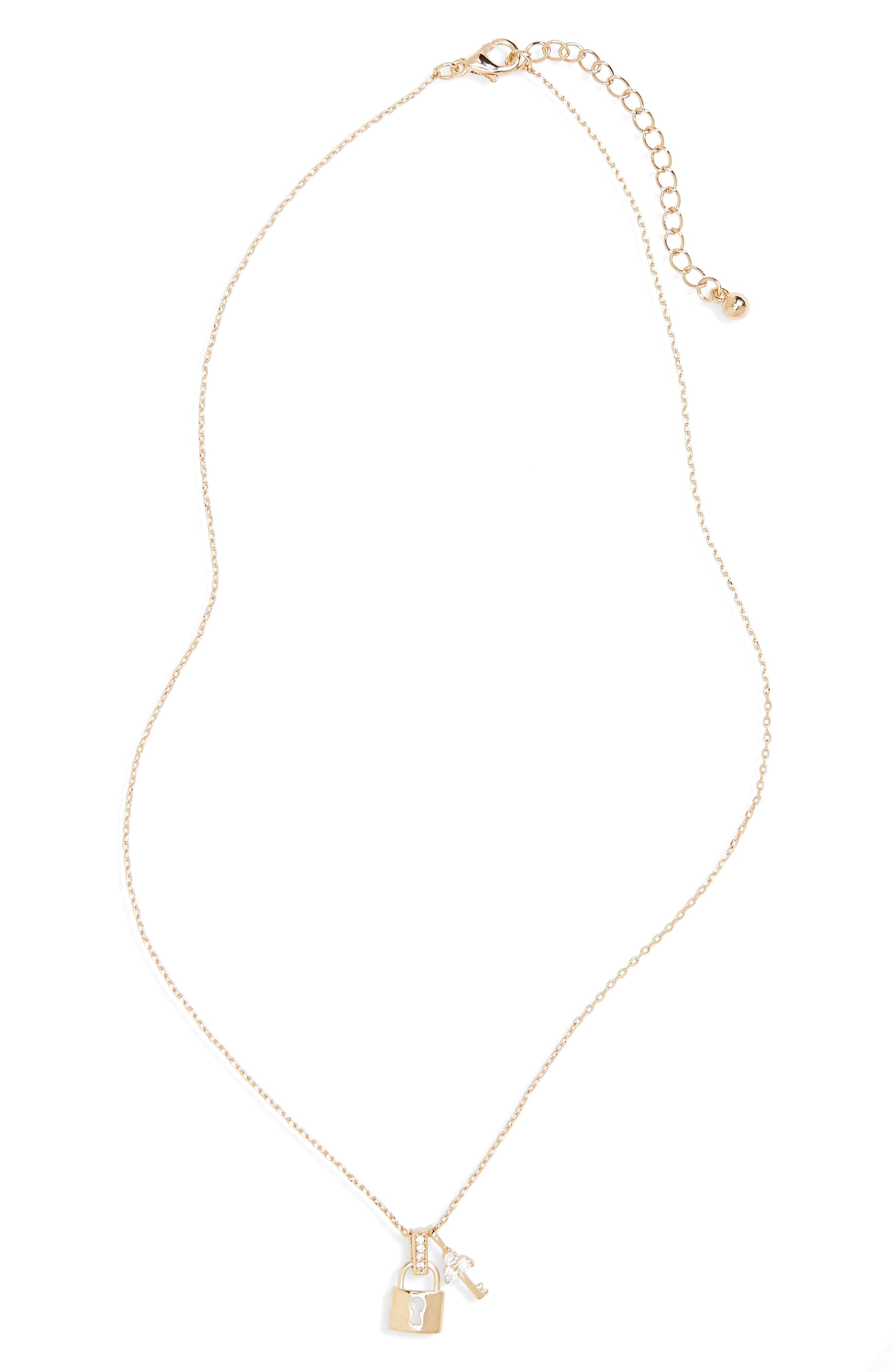 BP. Lock & Key Pendant Necklace