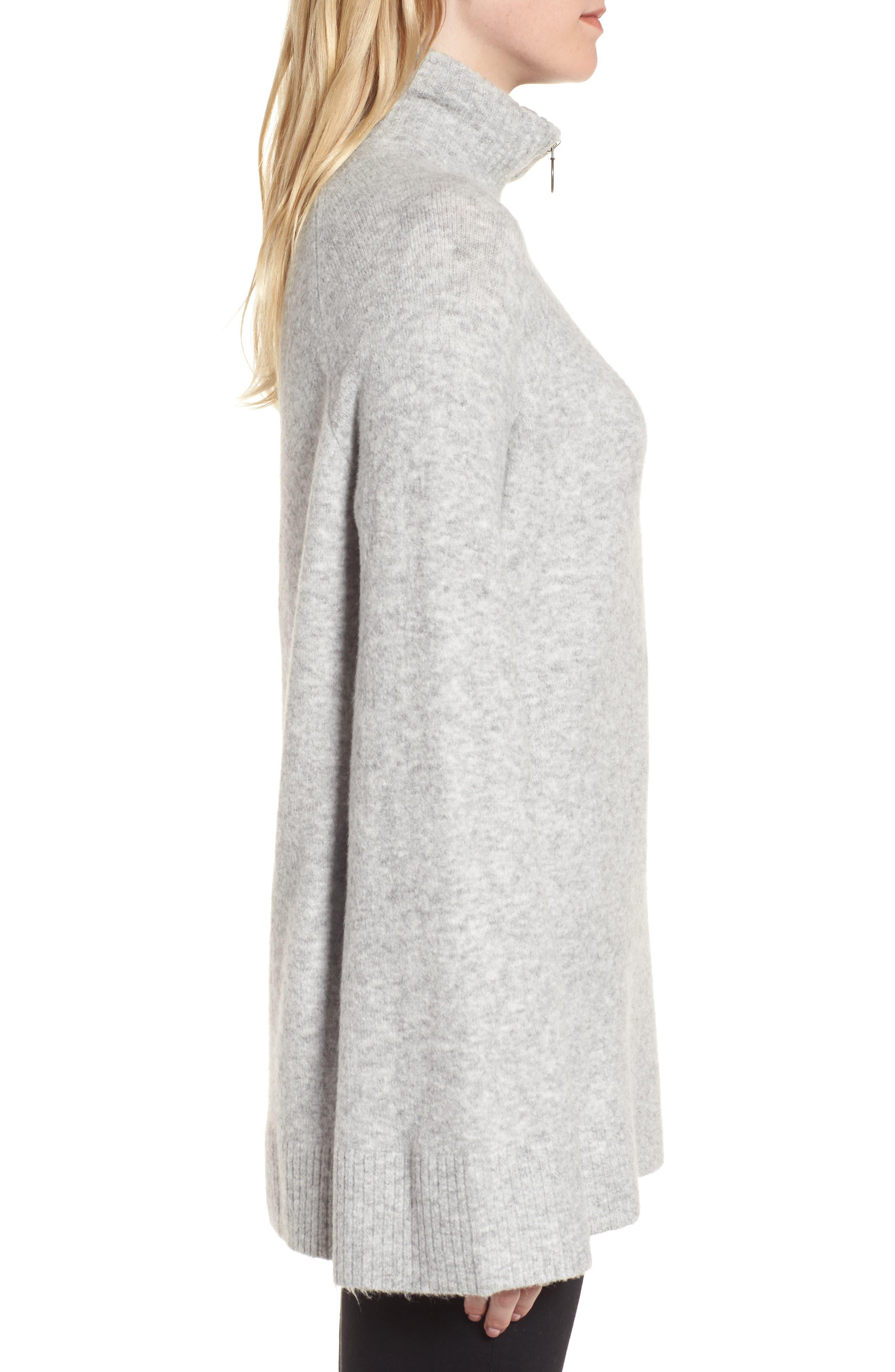 Half Zip Pullover,                             Alternate thumbnail 3, color,                             Grey Heather