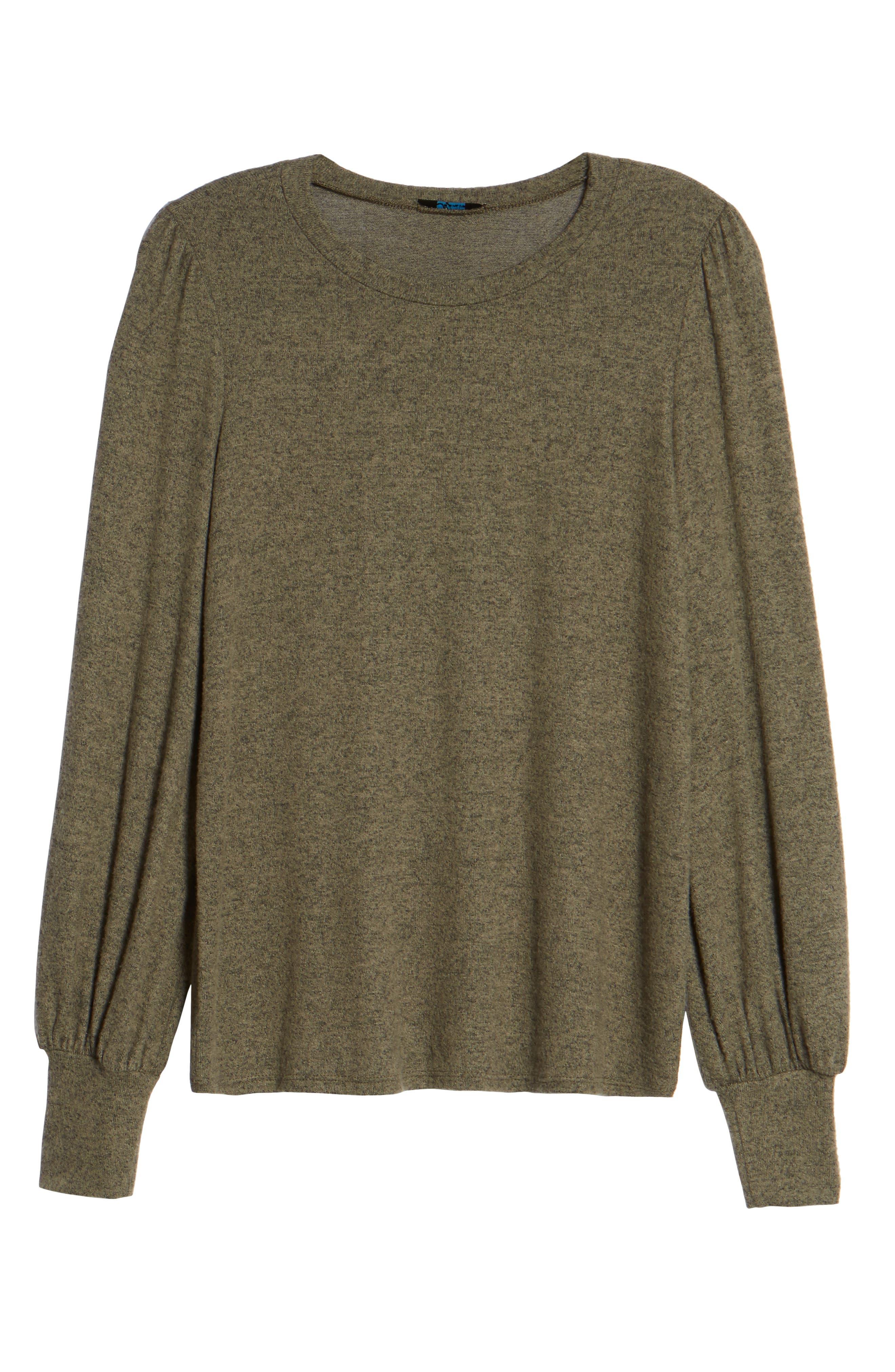 Bell Sleeve Pullover,                             Alternate thumbnail 6, color,                             Green