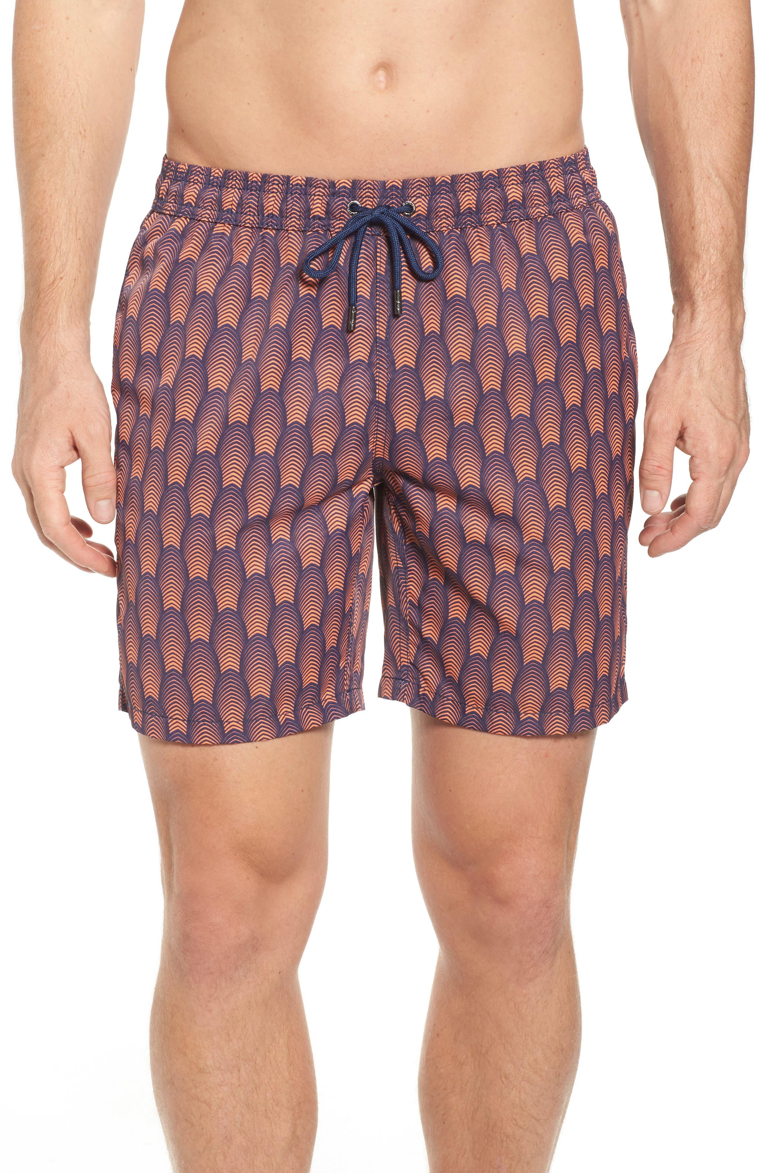 Mr. Swim Deco Print Swim Trunks