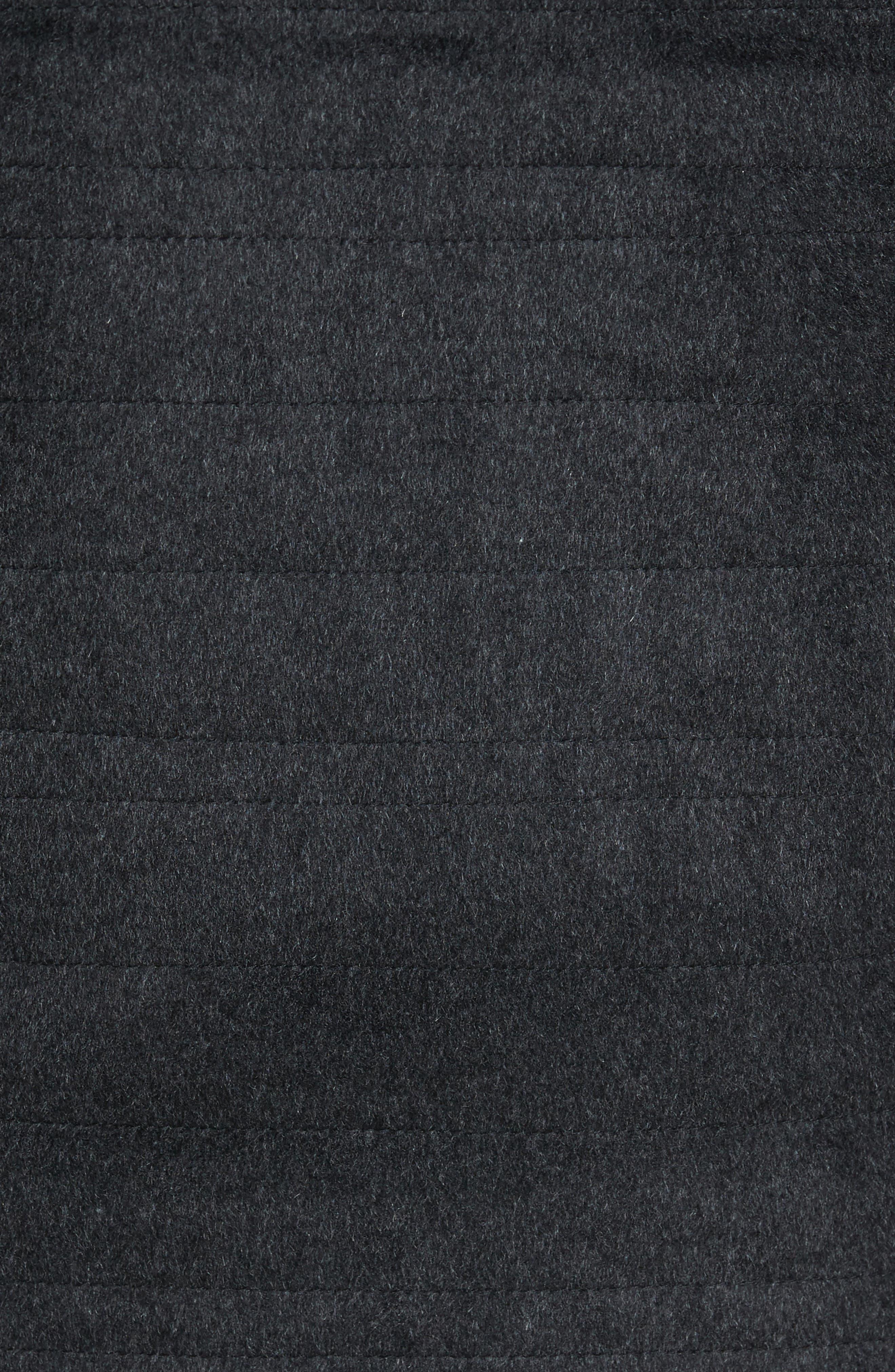 Michael Slim Fit Quilted Shirt Jacket,                             Alternate thumbnail 5, color,                             Dark Char Melange