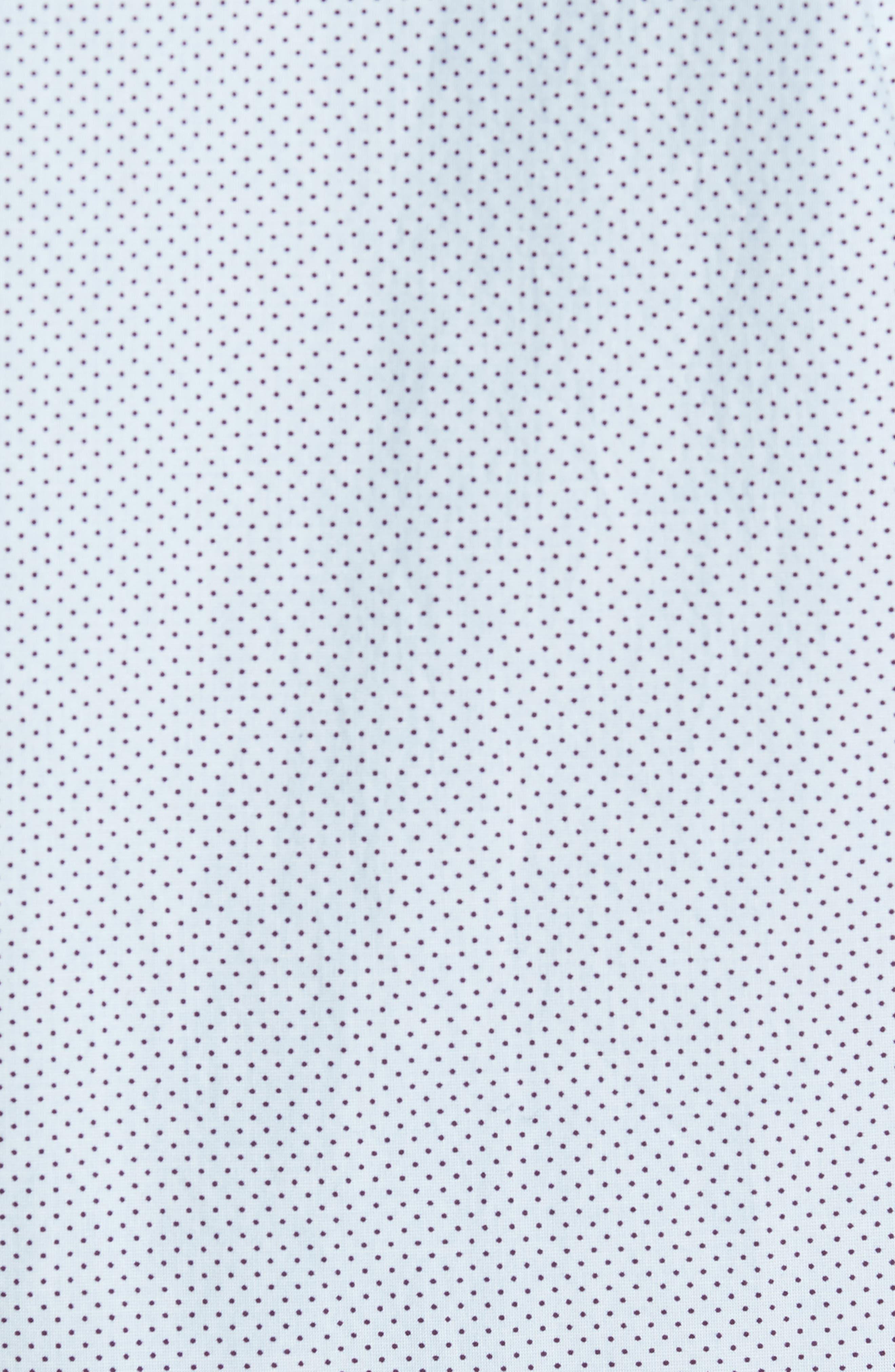 Slim Fit Dot Print Sport Shirt,                             Alternate thumbnail 5, color,                             Cannes Blue Fine Dots