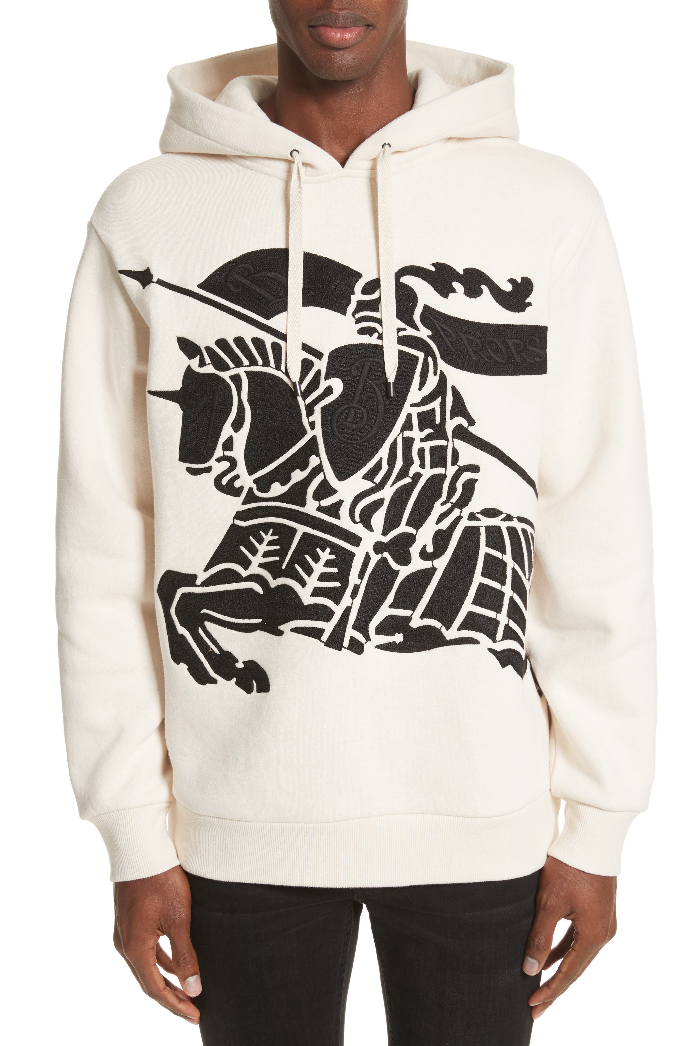 Burberry Fenchurst Embroidered Oversize Fleece Hoodie