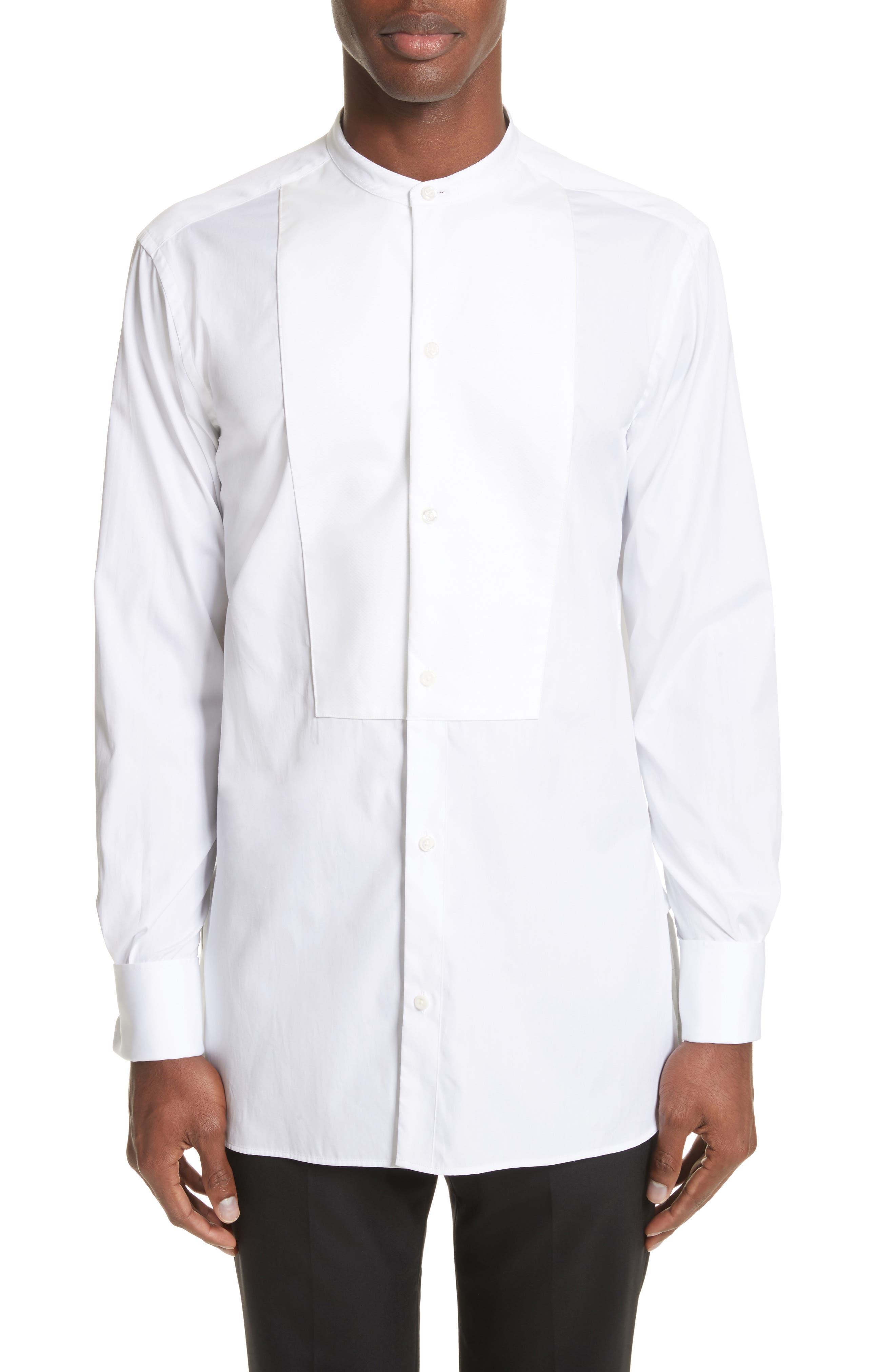 Bib Detail Sport Shirt,                             Main thumbnail 1, color,                             White