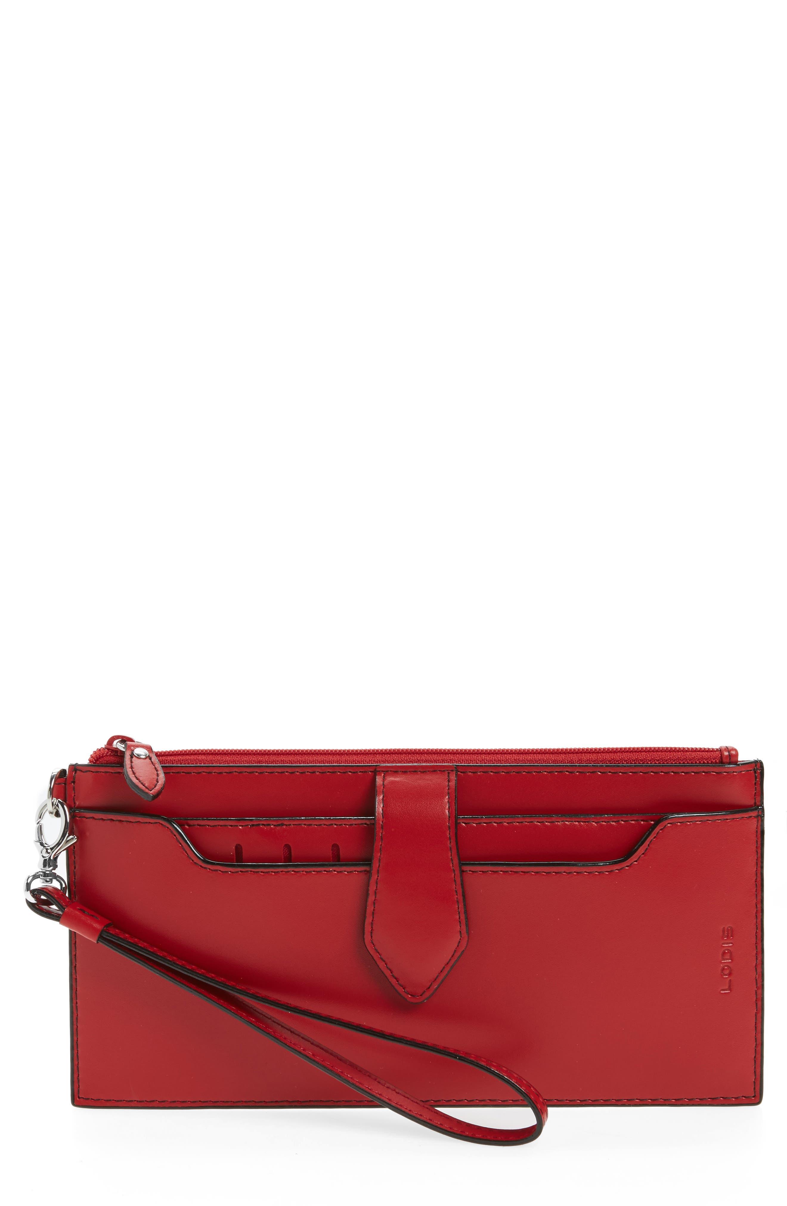 Audrey Under Lock & Key Queenie Wallet,                             Main thumbnail 1, color,                             Red