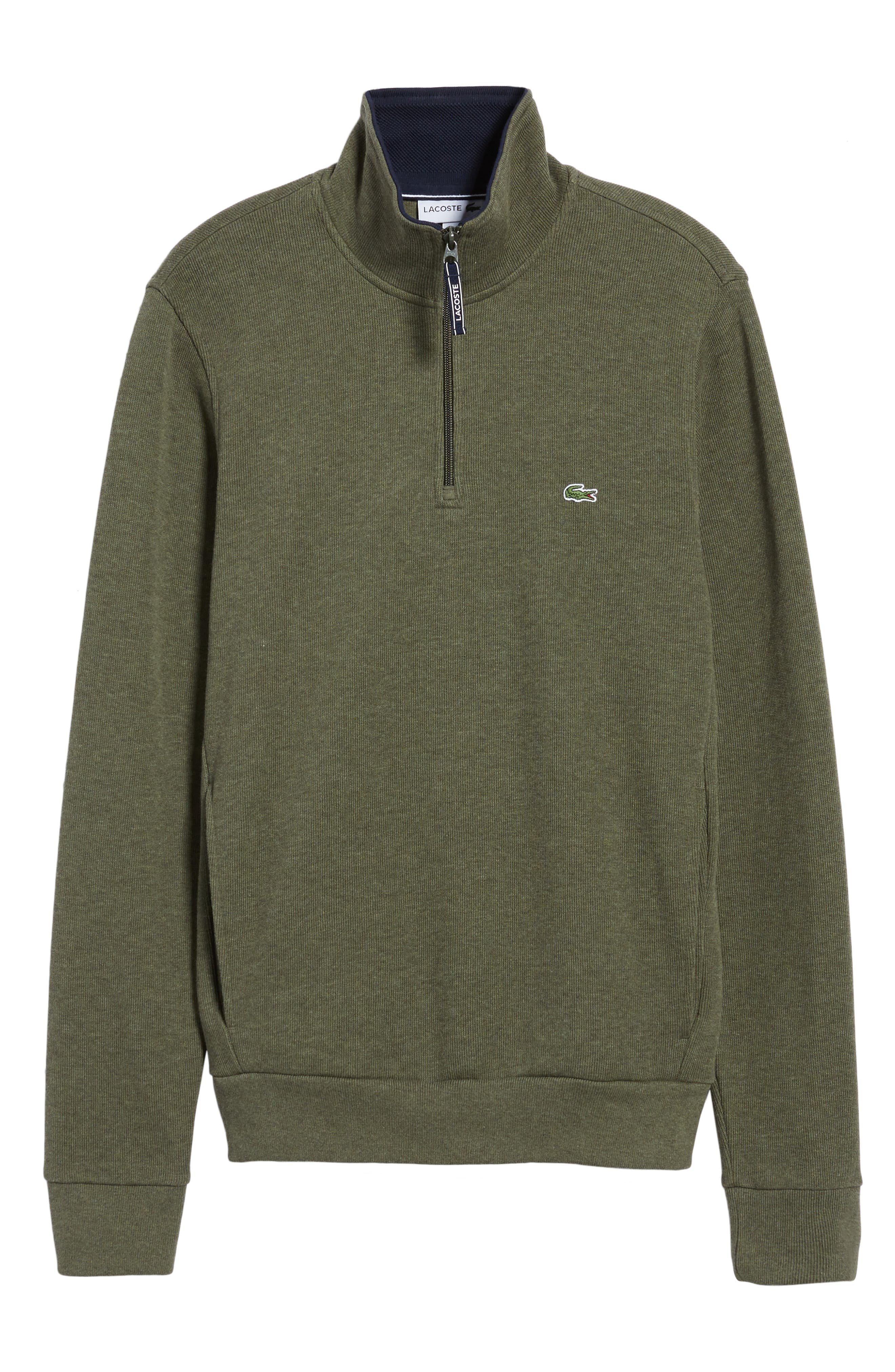 Quarter Zip Sweatshirt,                             Alternate thumbnail 6, color,                             2Qh Army/ Navy Blue