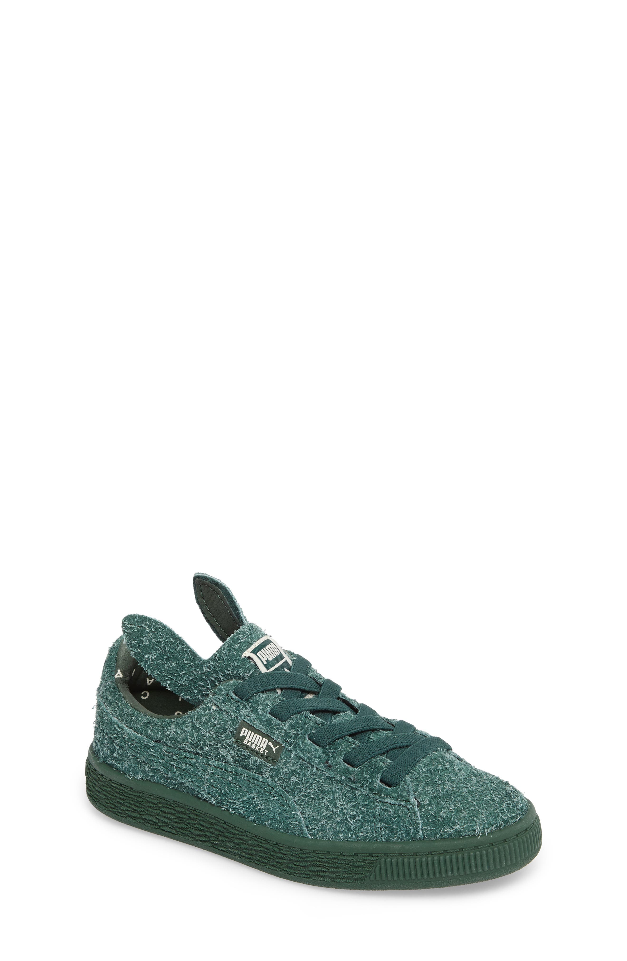 Alternate Image 1 Selected - PUMA x tinycottons Basket Furry Sneaker (Baby, Walker, Toddler, Little Kid & Big Kid)