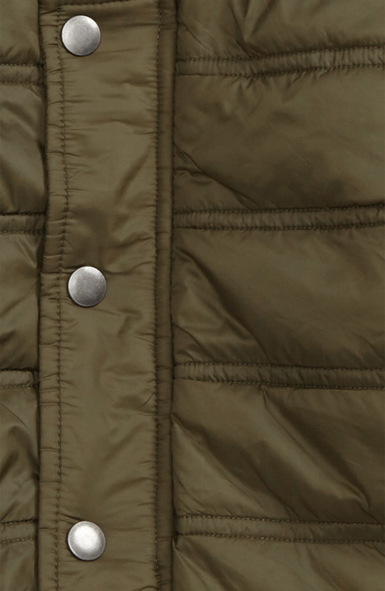 Quilted Nylon Bomber Jacket,                             Alternate thumbnail 2, color,                             Olive