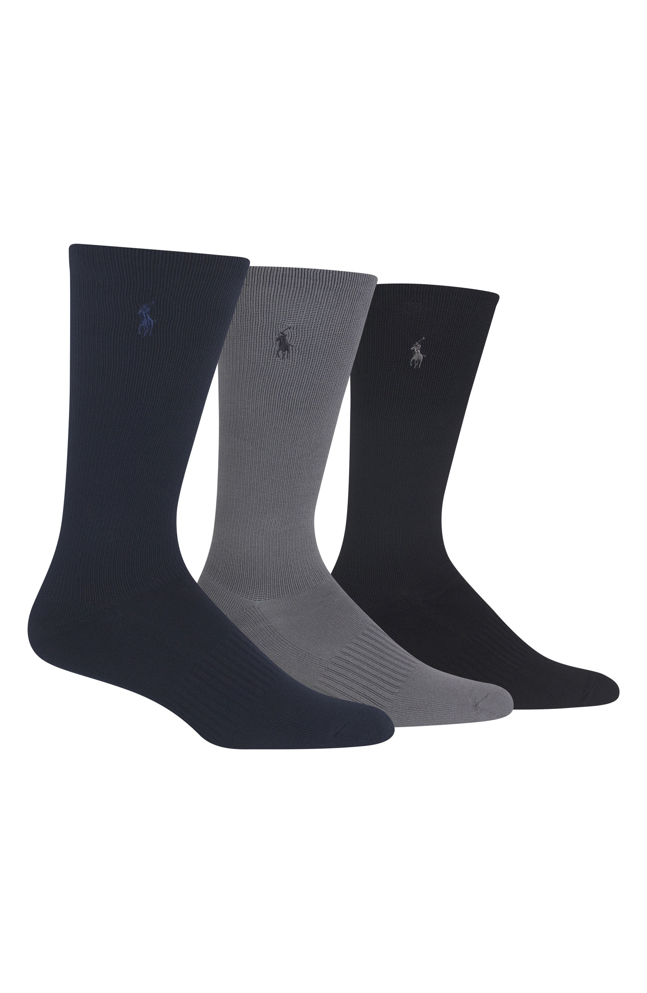 Main Image - Polo Ralph Lauren 3-Pack Compression Socks