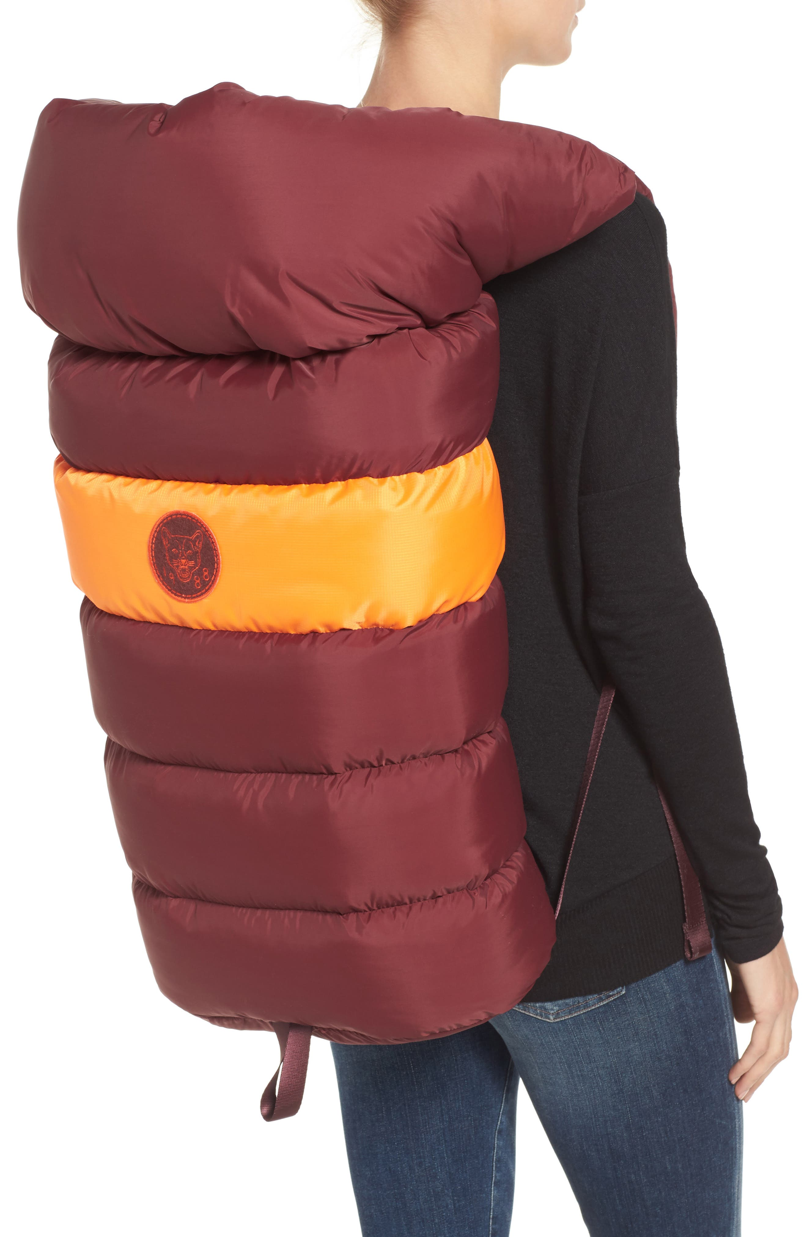 PUMA by Rihanna Backpack,                             Alternate thumbnail 2, color,                             Burgundy Orange