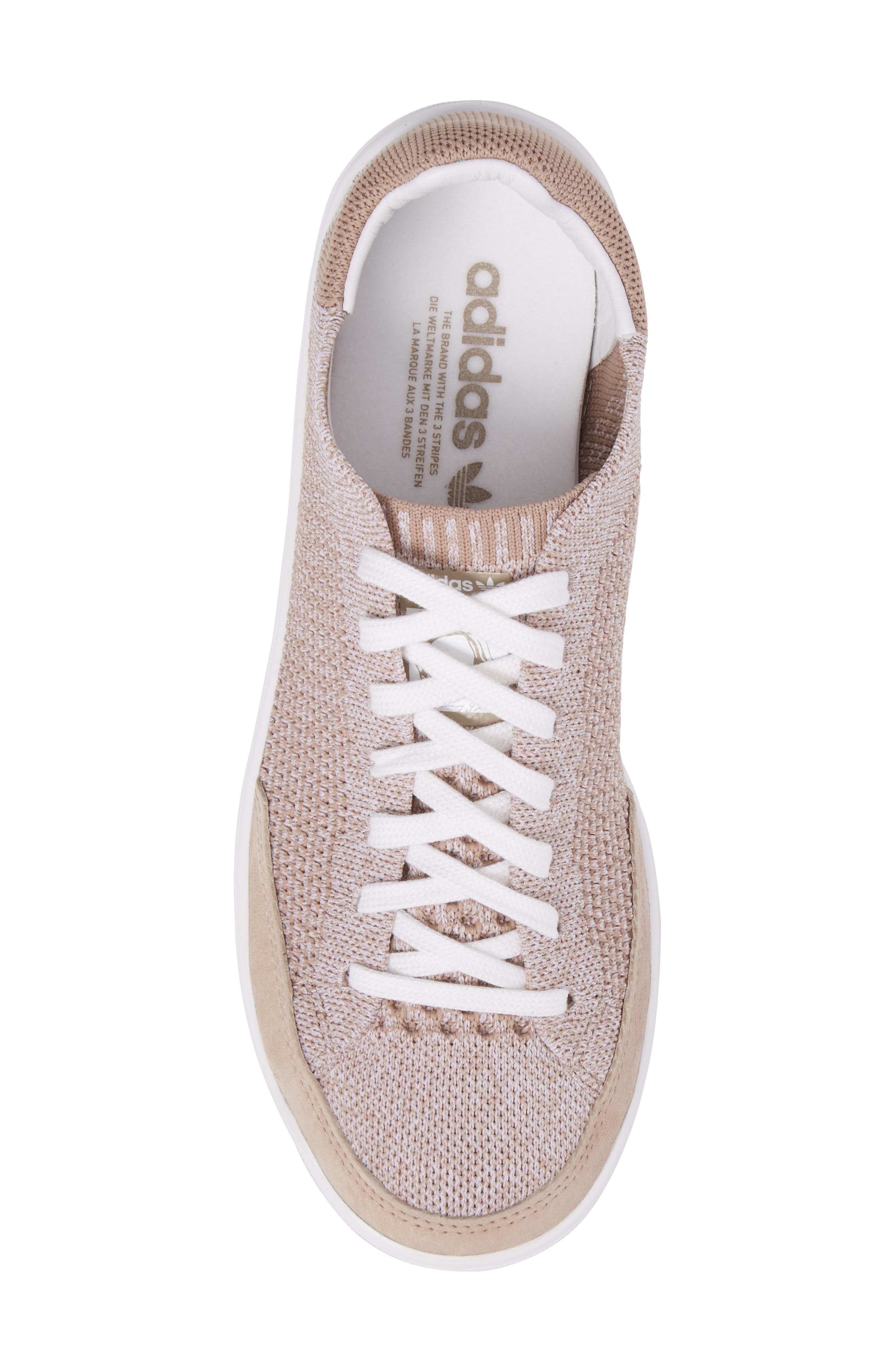 Rod Laver Super Primeknit Sneaker,                             Alternate thumbnail 5, color,                             Khaki/ White/ Crystal White
