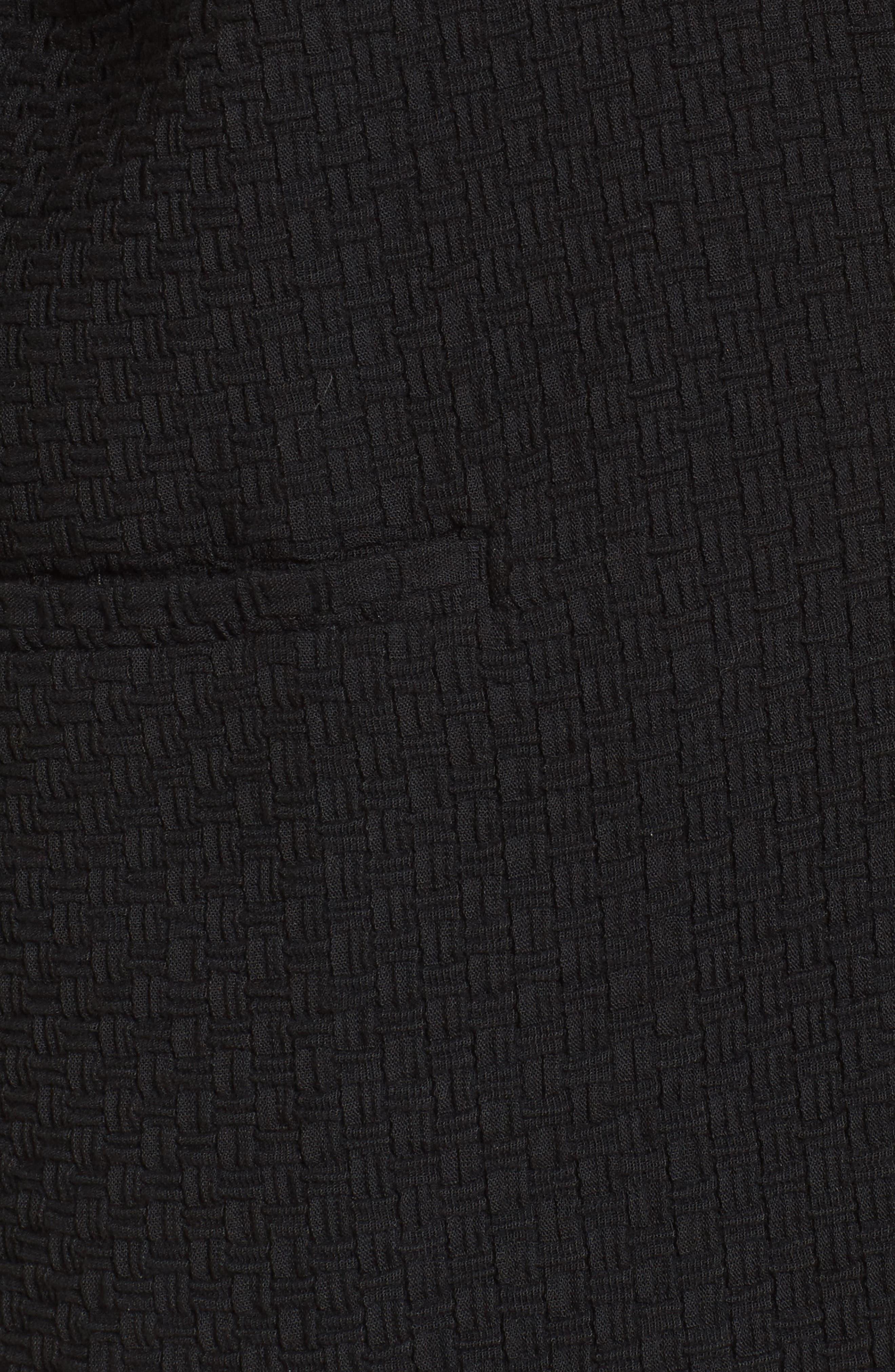 Boxy Jacquard Jacket,                             Alternate thumbnail 5, color,                             Black