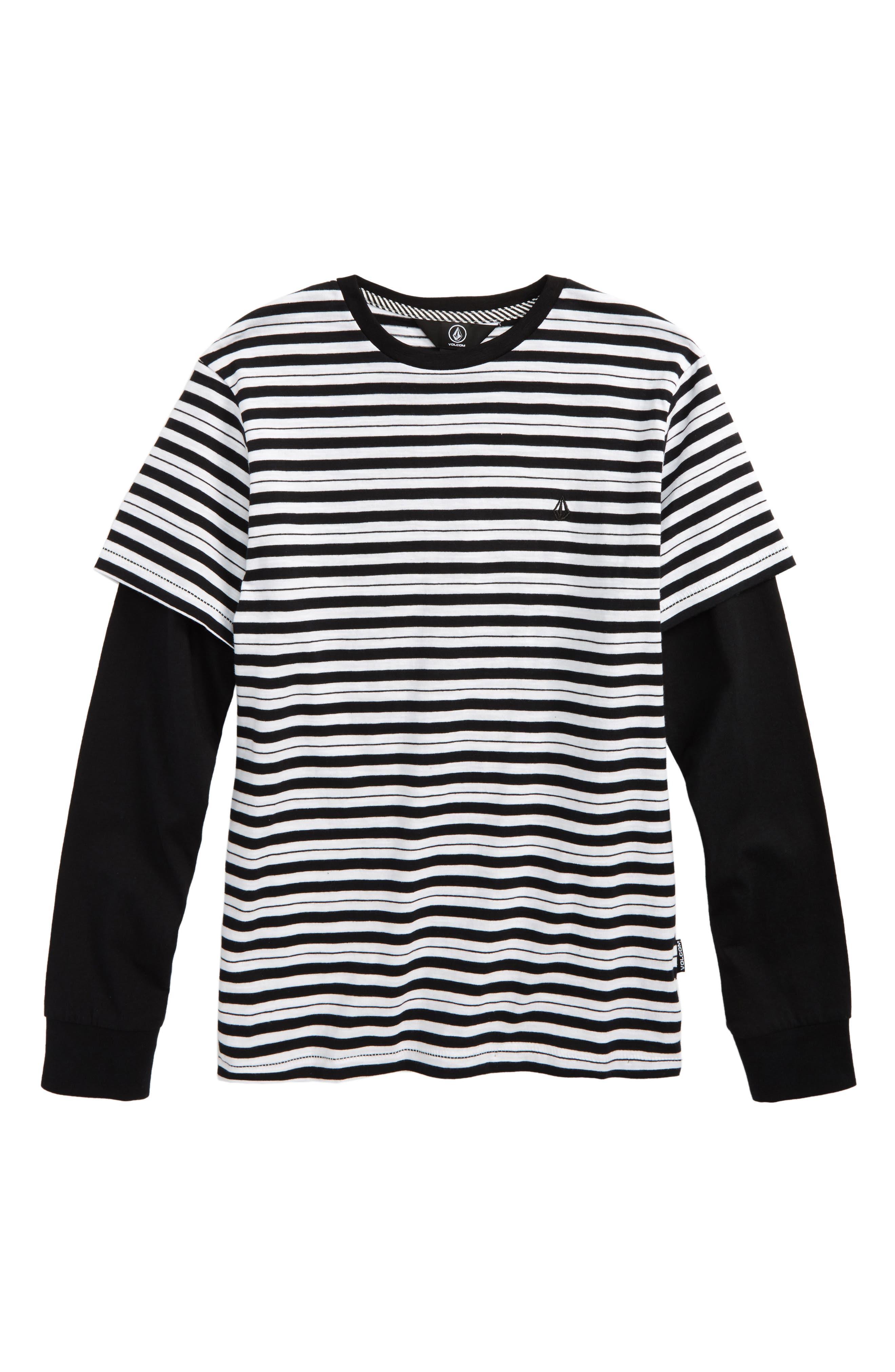 Impact Twofer Layered T-Shirt,                             Main thumbnail 1, color,                             White