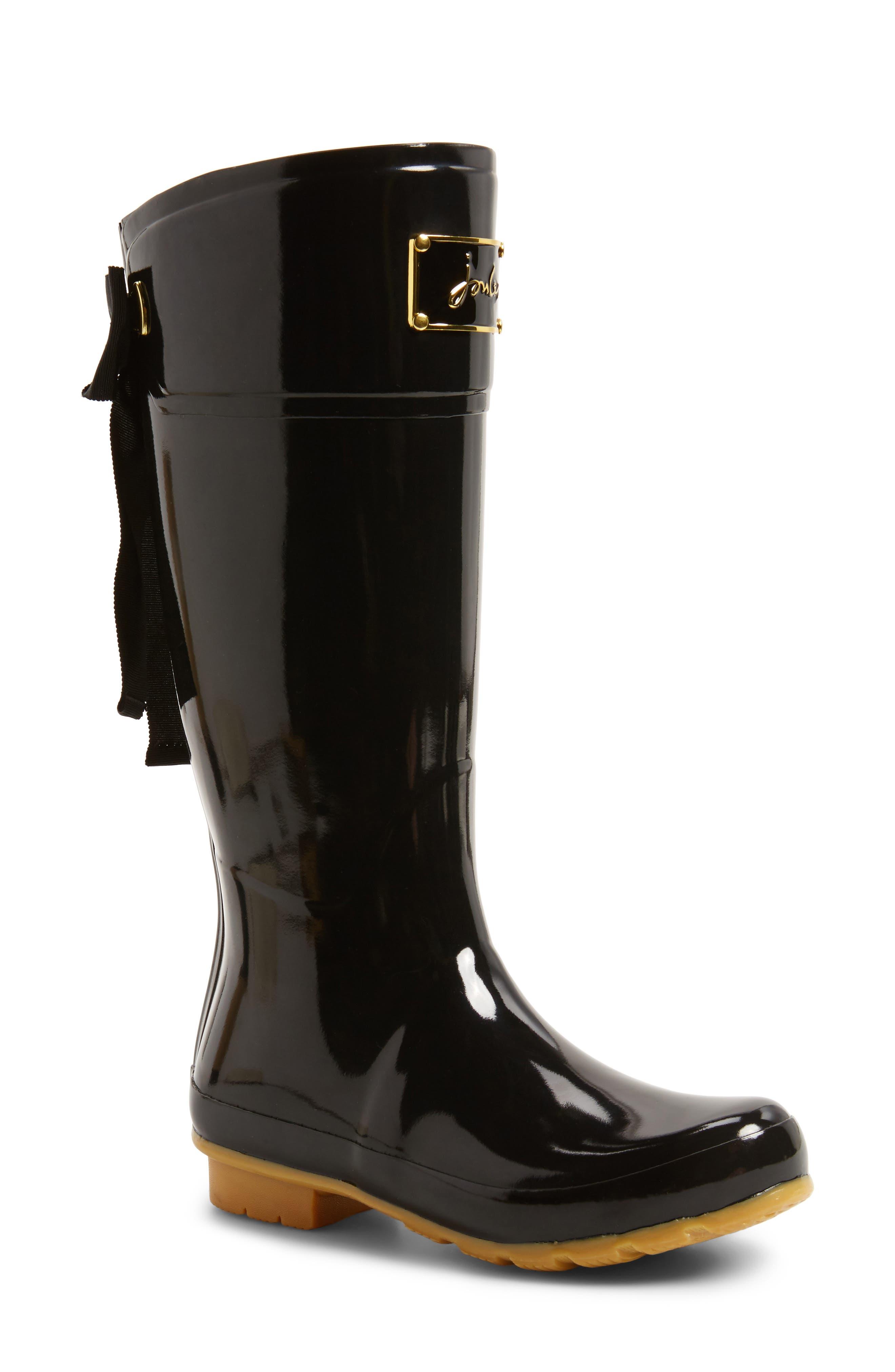 'Evedon' Rain Boot,                             Main thumbnail 1, color,                             True Black