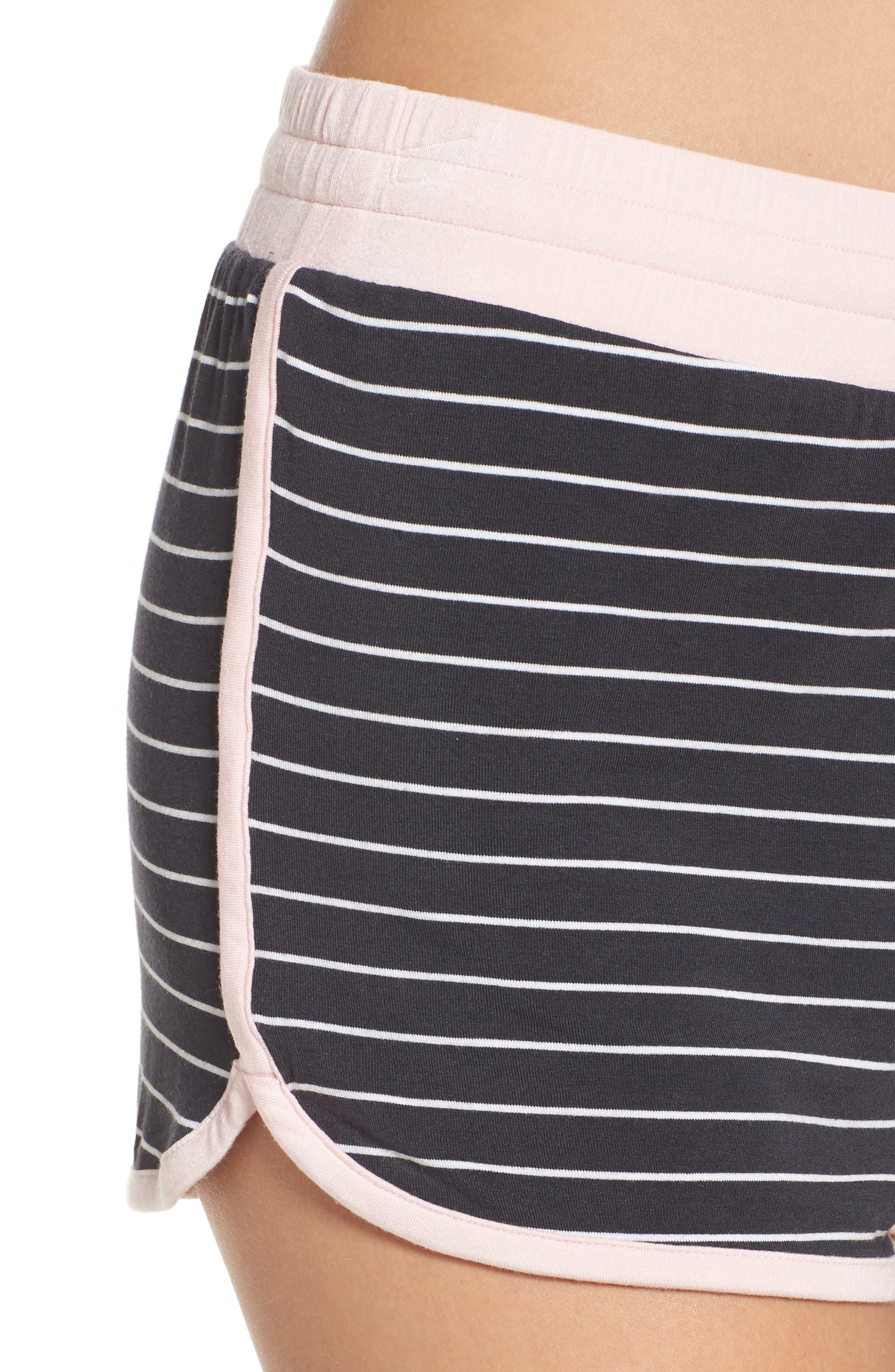 Stripe Jersey Shorts,                             Alternate thumbnail 4, color,                             Smoke