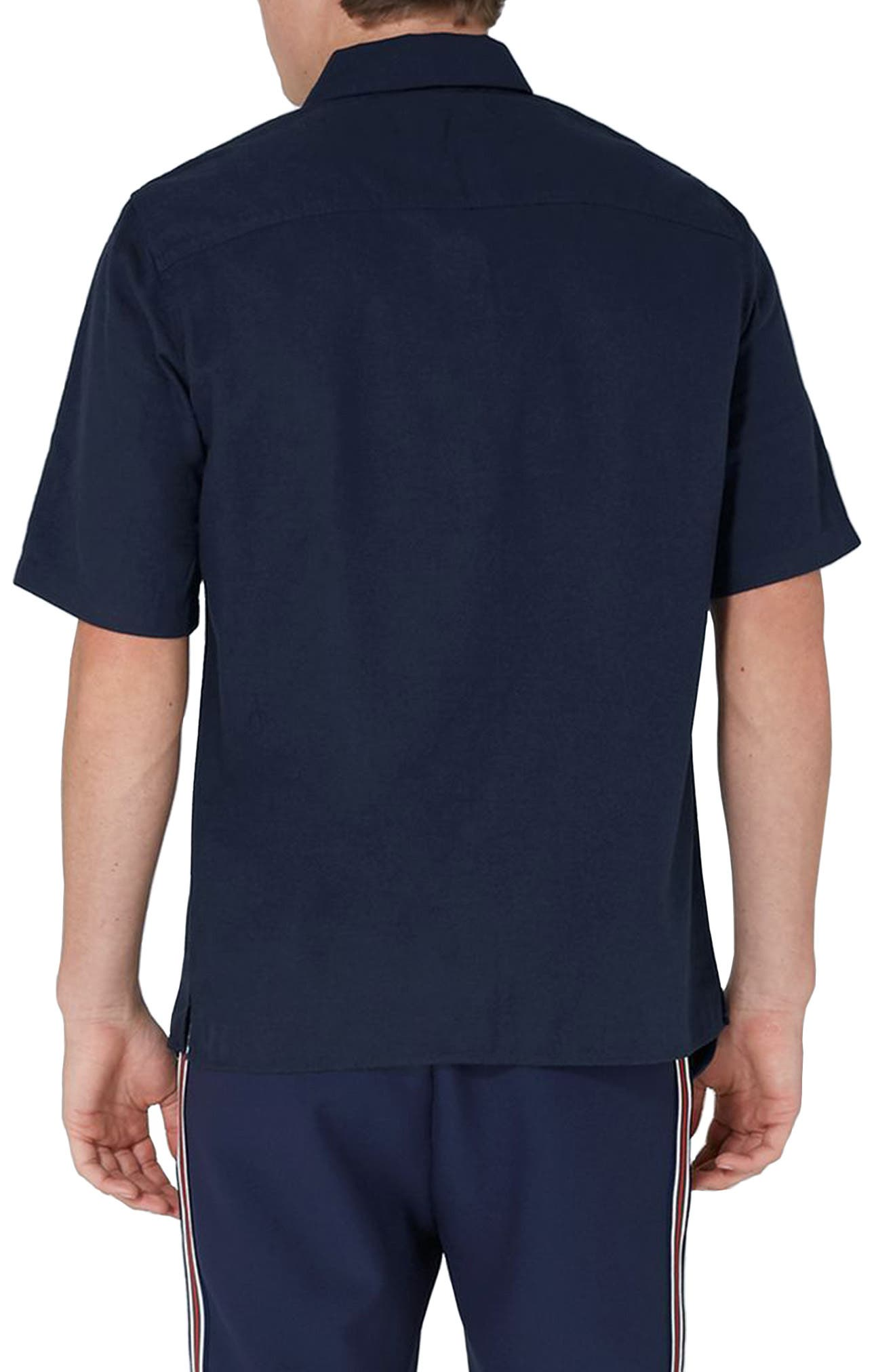Modern Fit Zip Shirt,                             Alternate thumbnail 2, color,                             Navy