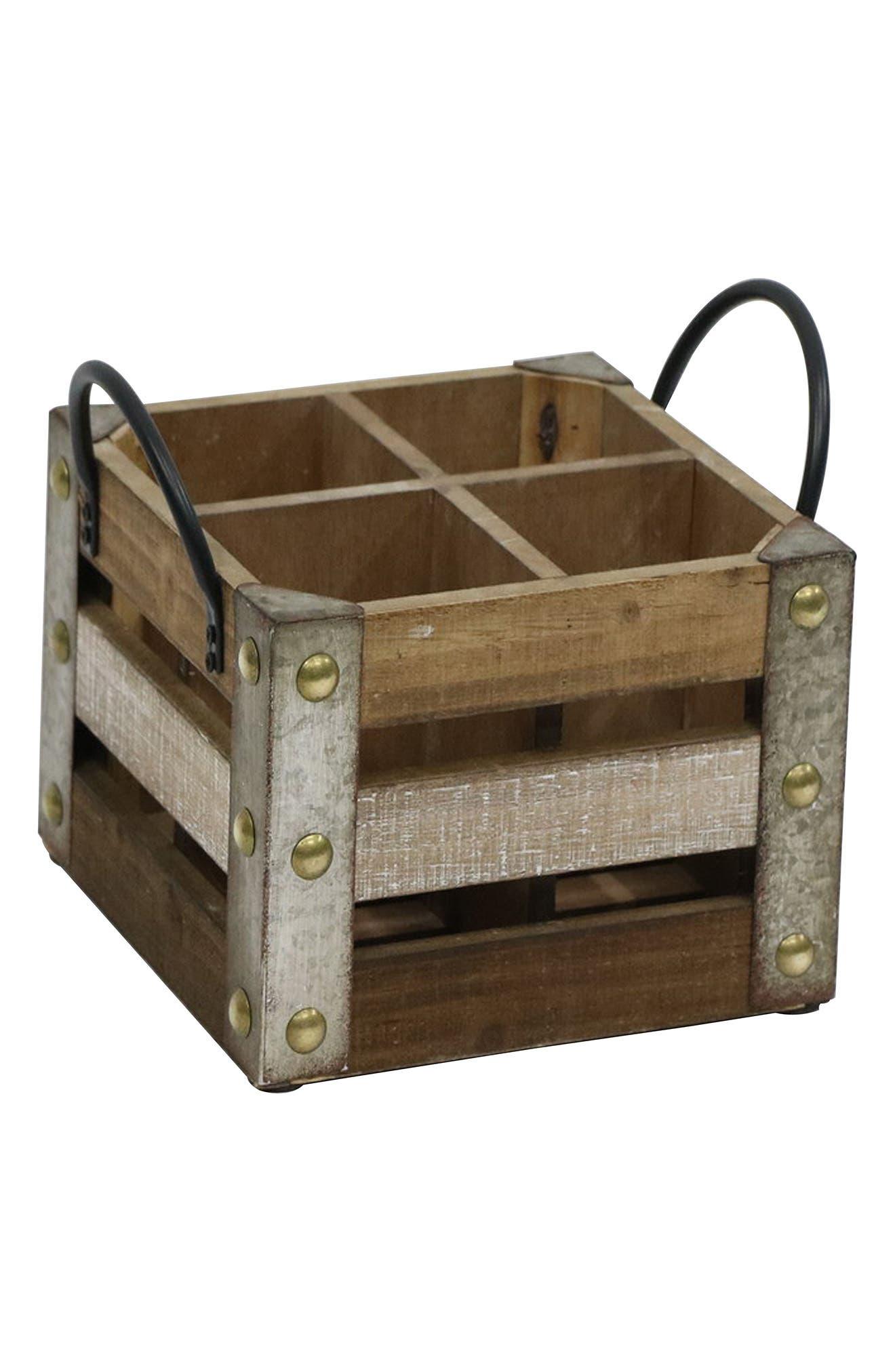 Alternate Image 1 Selected - Crystal Art Gallery Wooden Wine Crate
