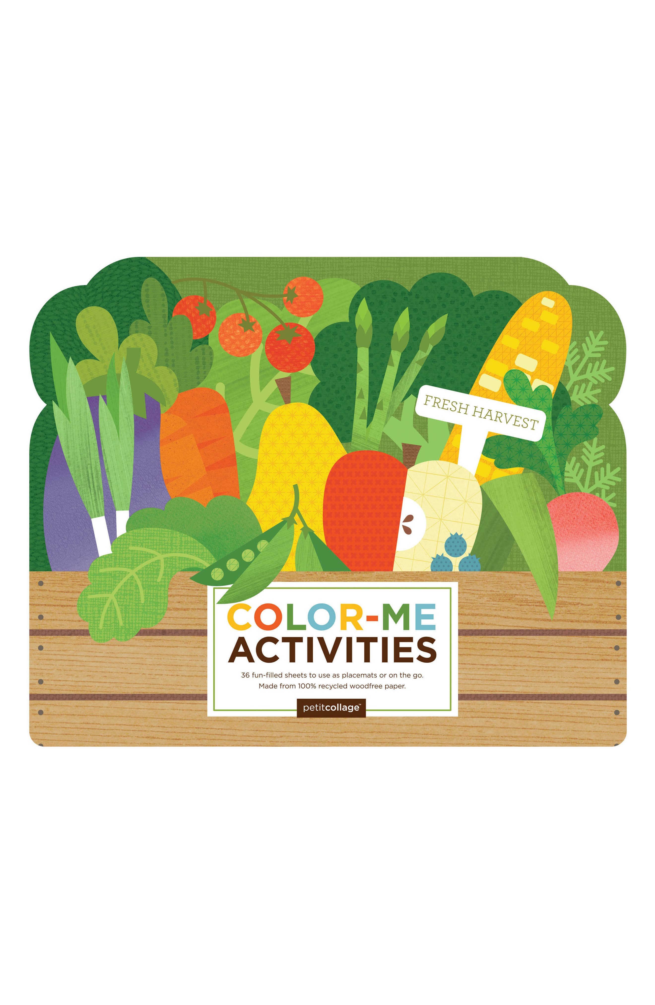 Petit Collage Fresh Harvest Color-Me Activities Book