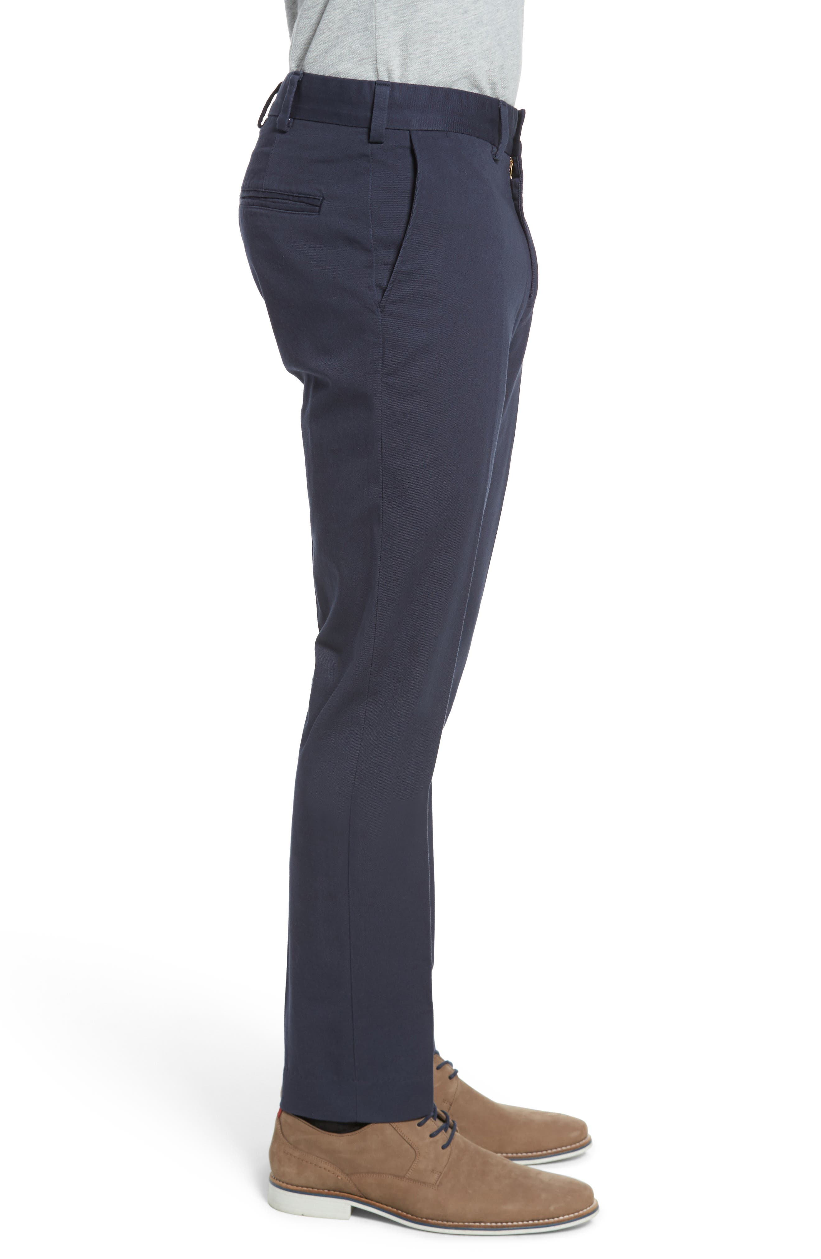 Slim Fit Original Twill Pants,                             Alternate thumbnail 3, color,                             Navy