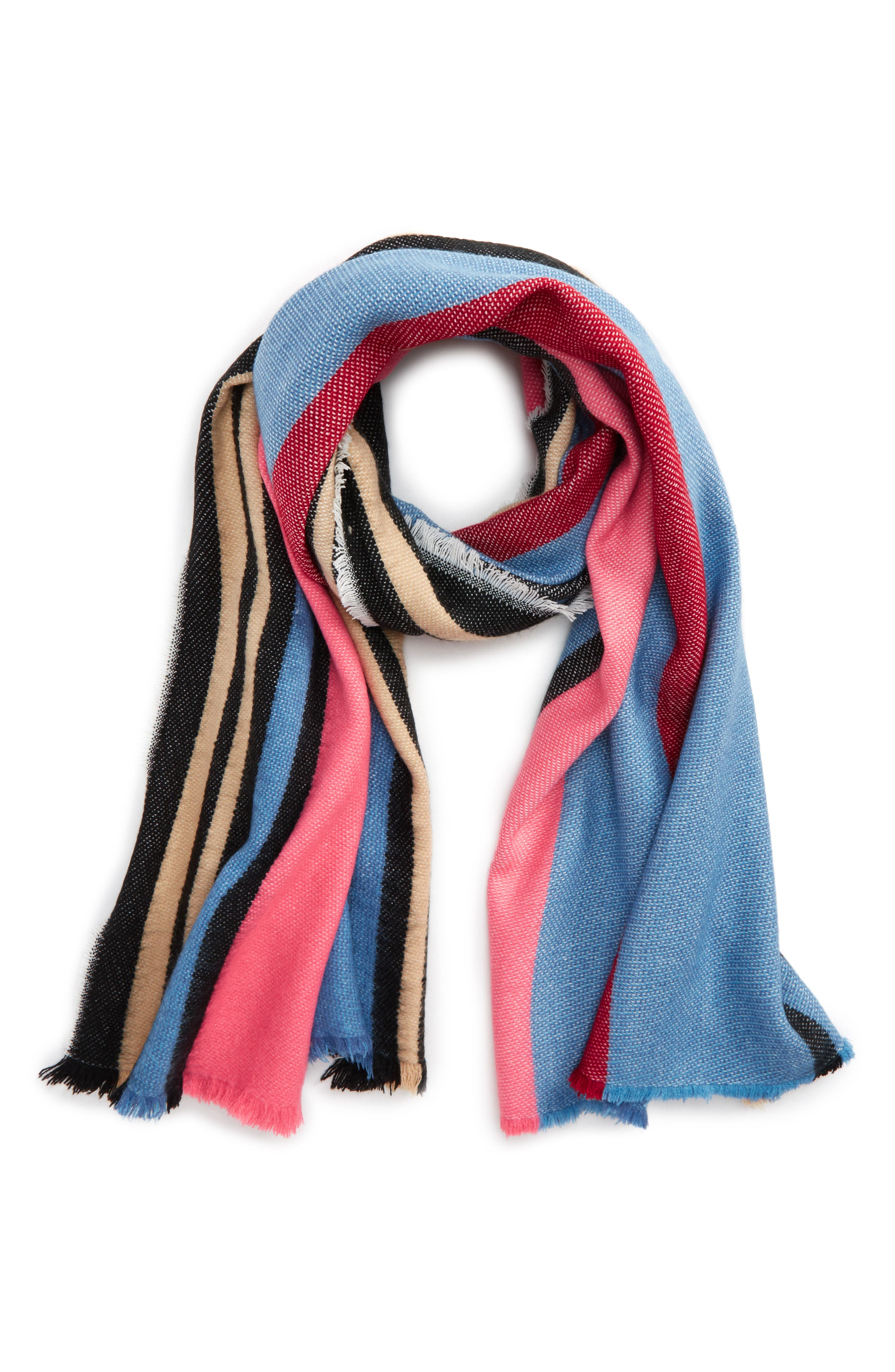 BP. Multi Color Stripe Oblong Scarf