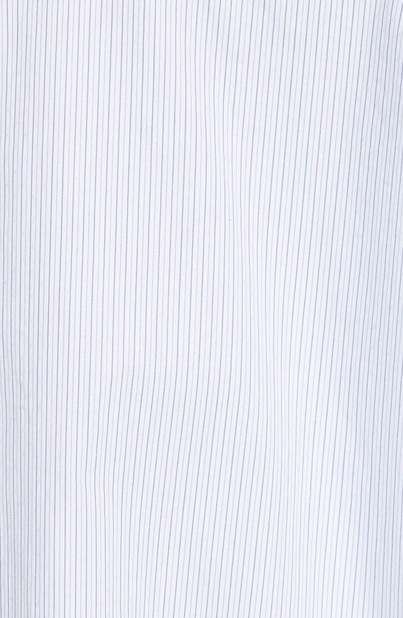 Stripe Cotton Trapeze Shirt,                             Alternate thumbnail 5, color,                             Red/ Blue