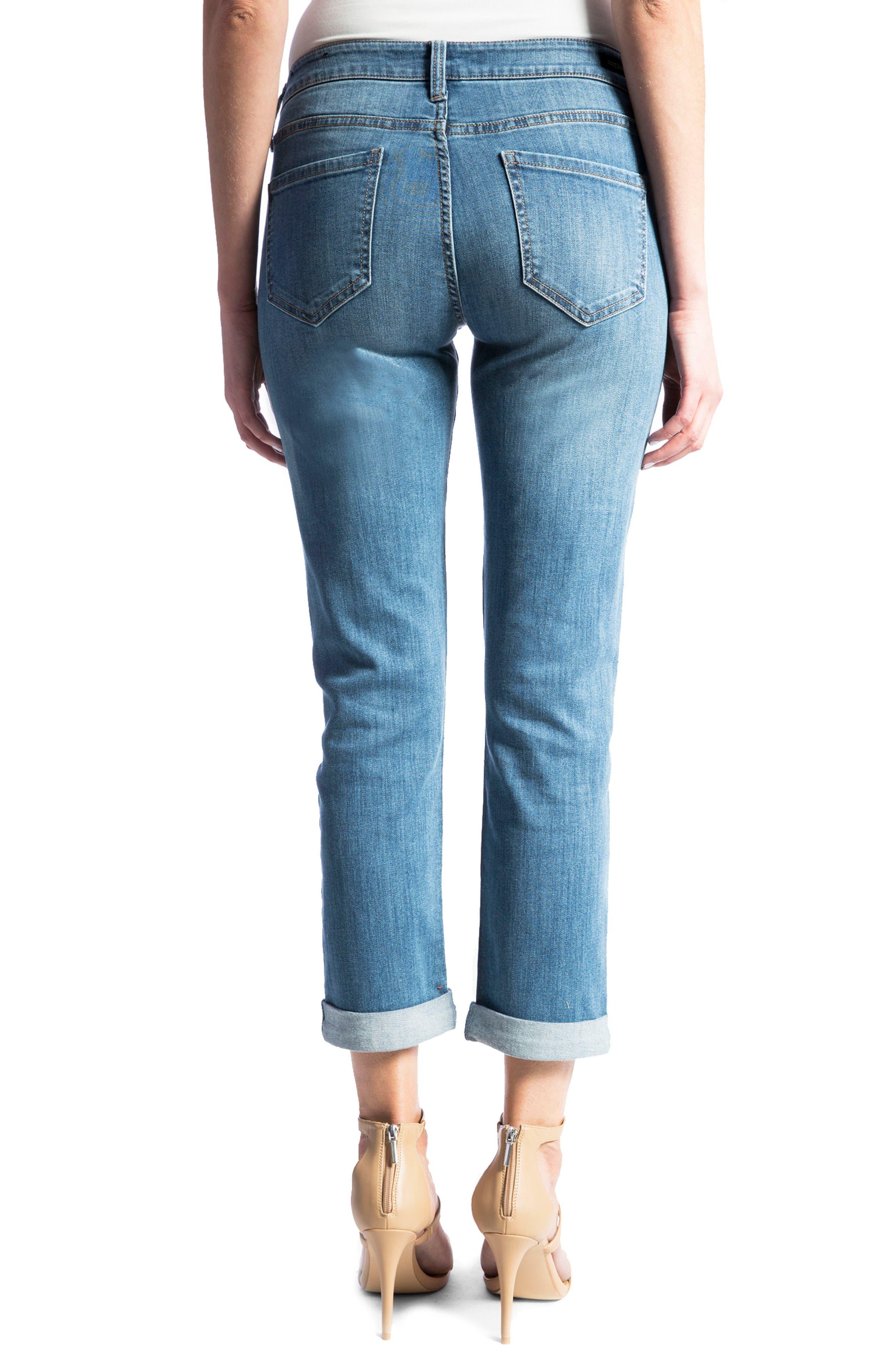Peyton Slim Boyfriend Jeans,                             Alternate thumbnail 2, color,                             Vintage Me