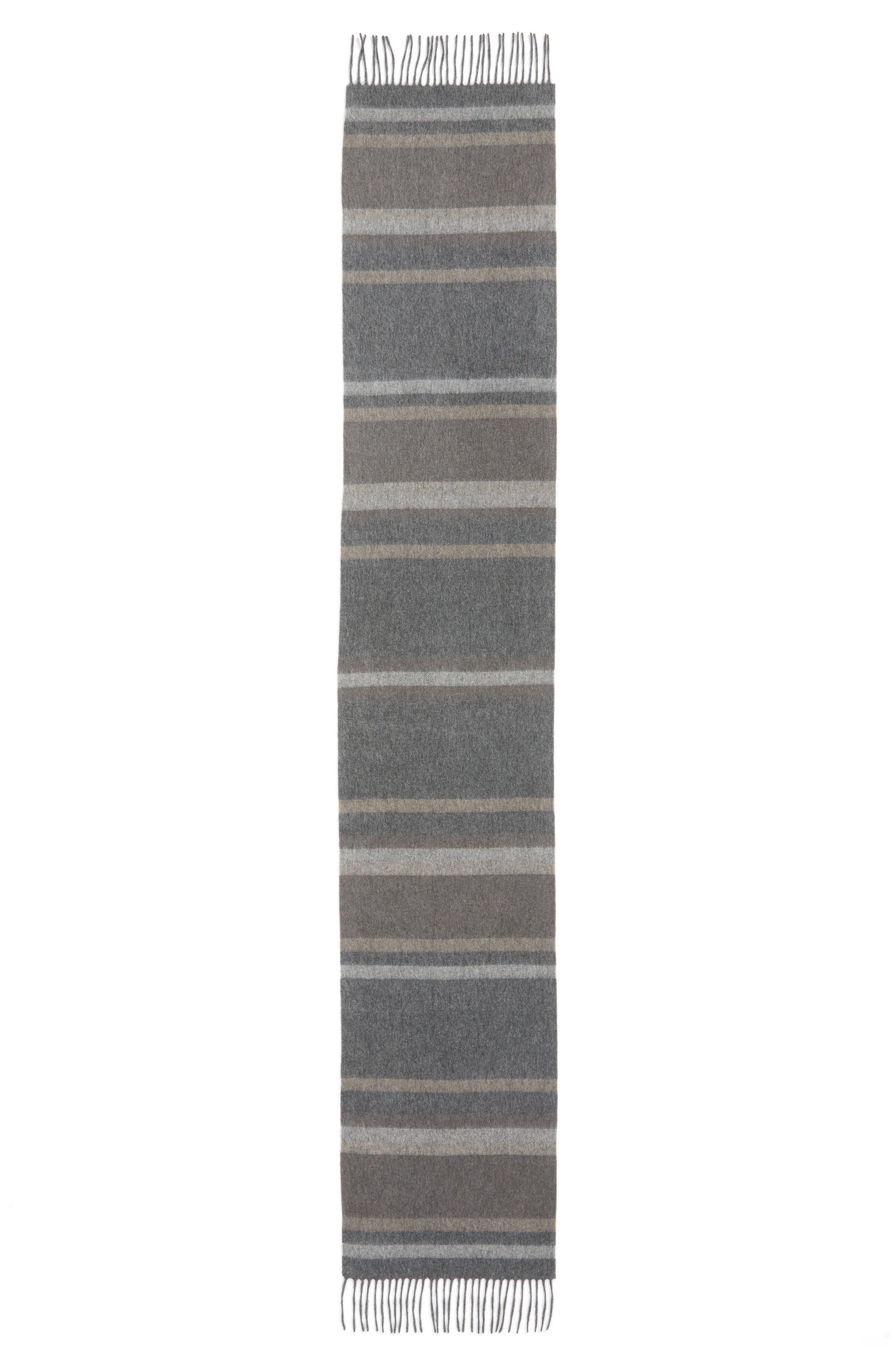 Alternate Image 2  - Nordstrom Men's Shop Multistripe Cashmere Scarf