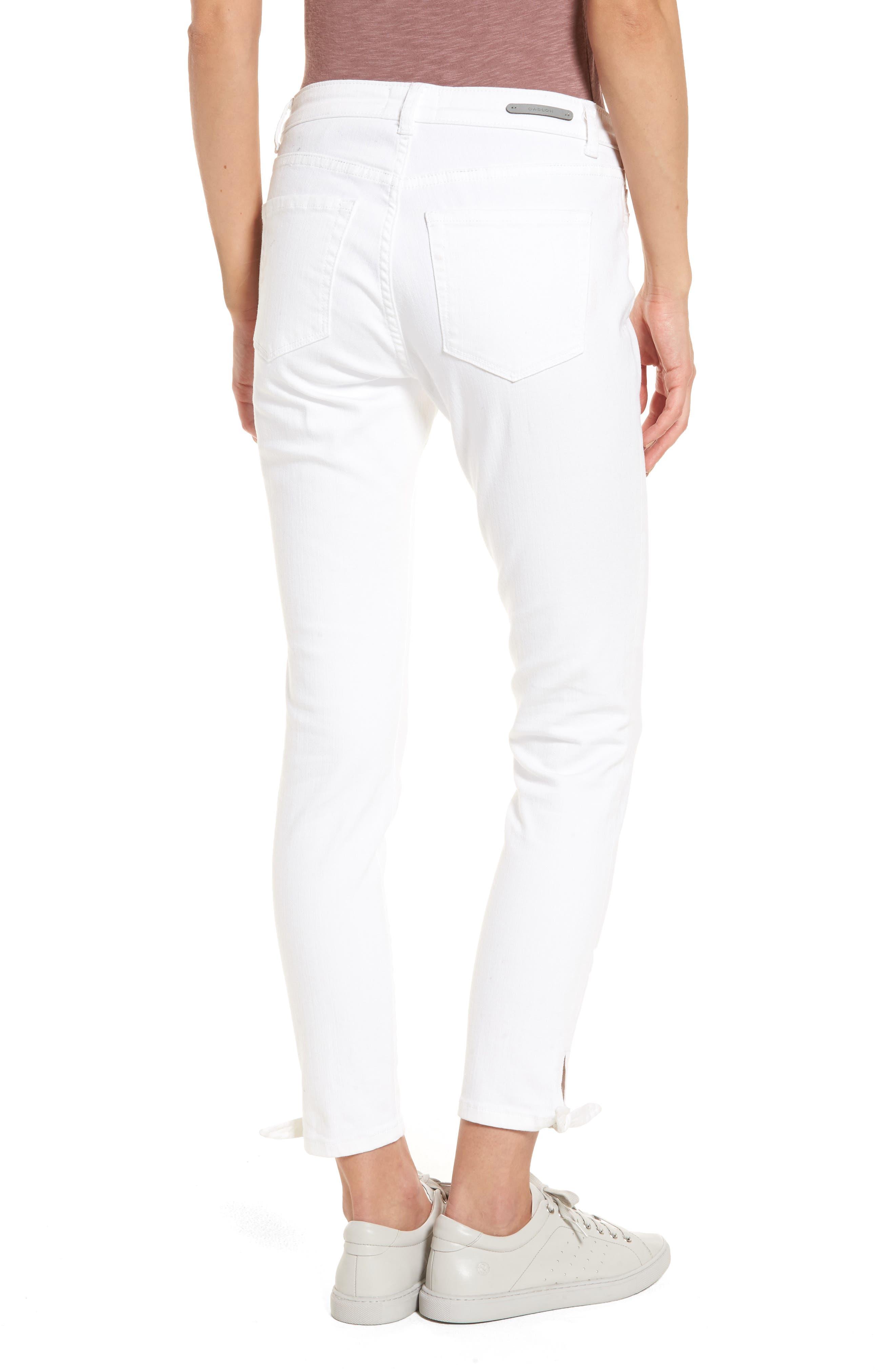 Alternate Image 3  - Caslon® Tie Ankle Skinny Jeans (Regular & Petite)