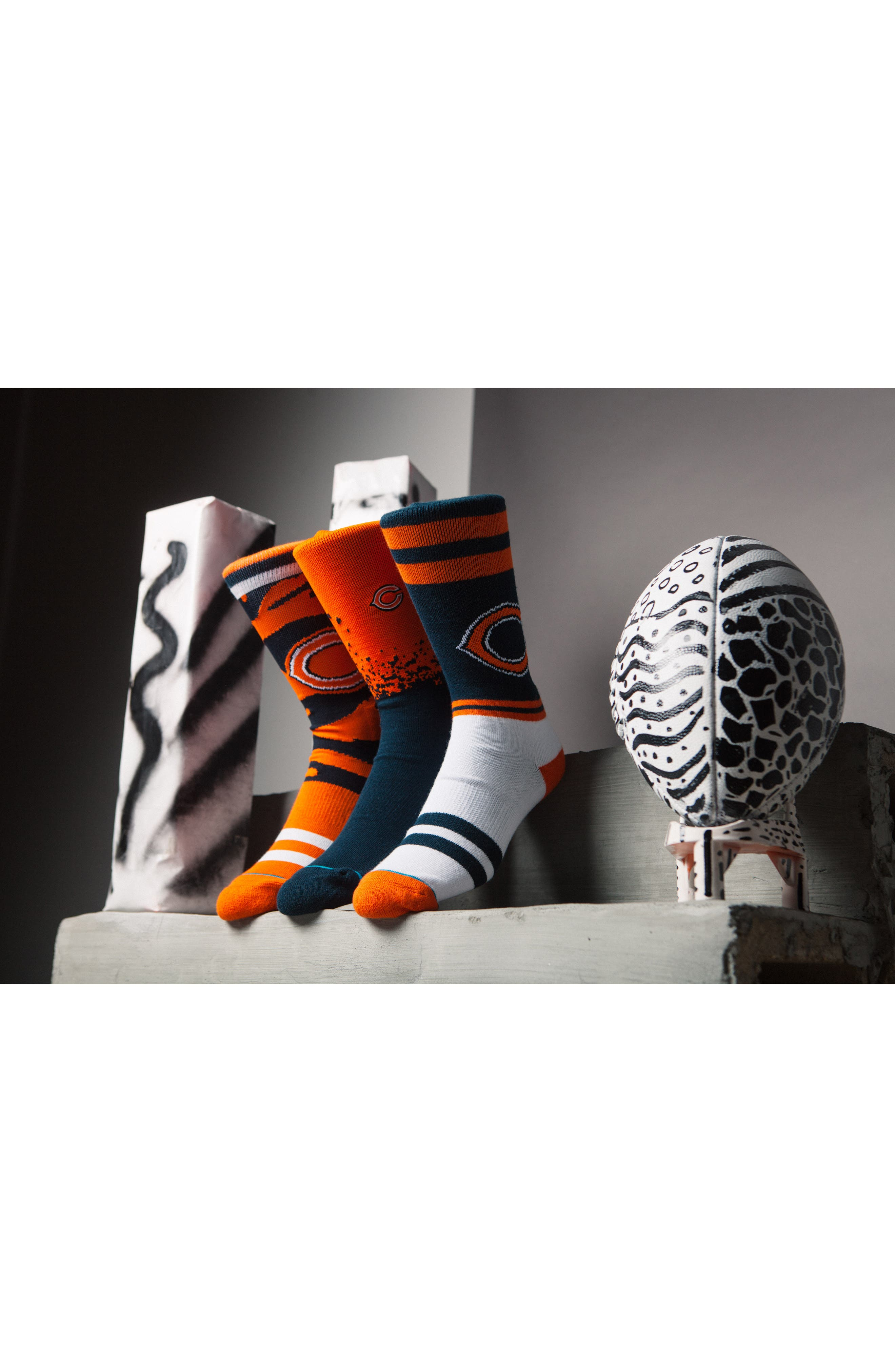 Chicago Bears - Fade Socks,                             Alternate thumbnail 5, color,                             Orange