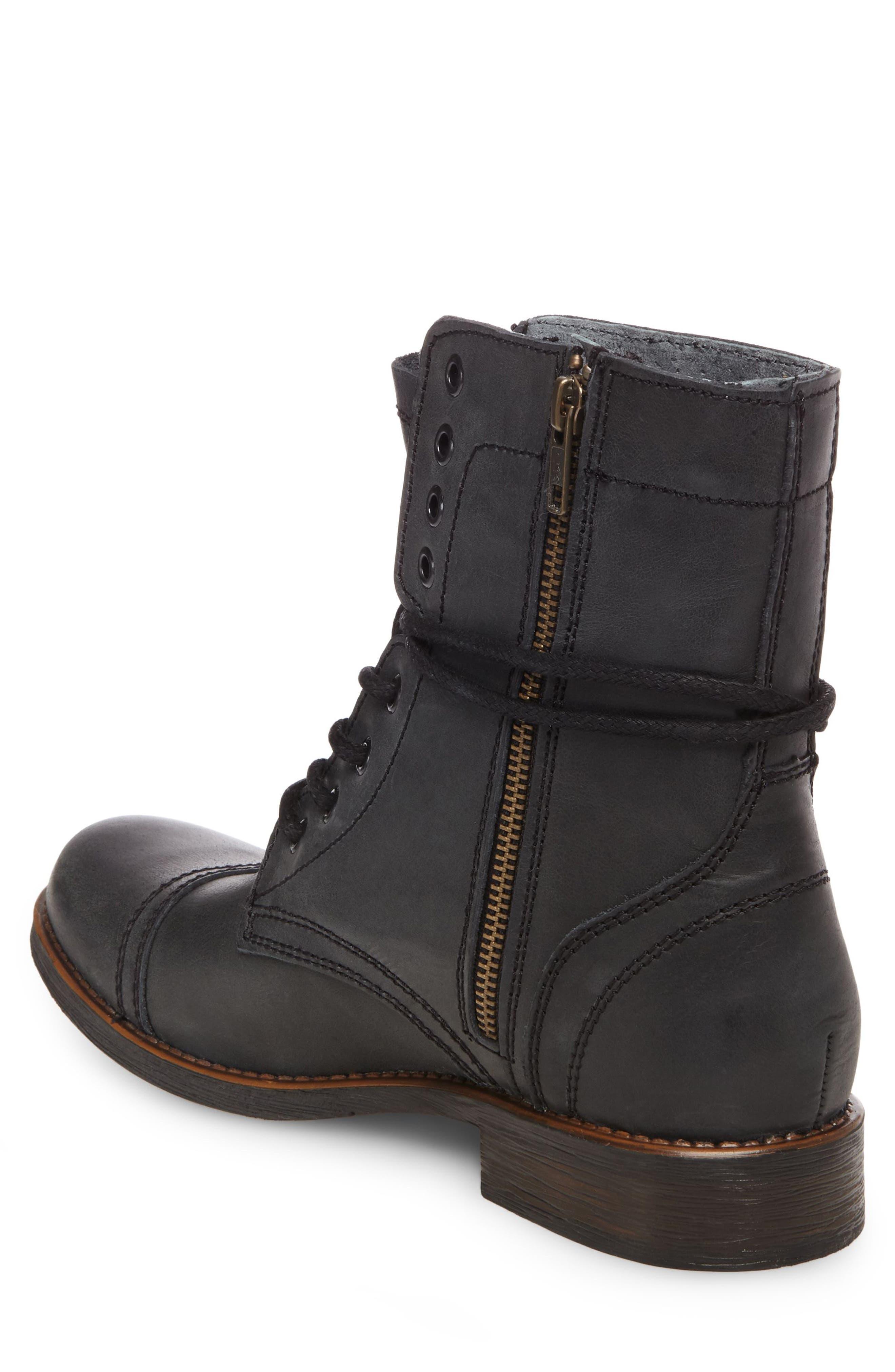 Troopah-C Cap Toe Boot,                             Alternate thumbnail 2, color,                             Black Leather