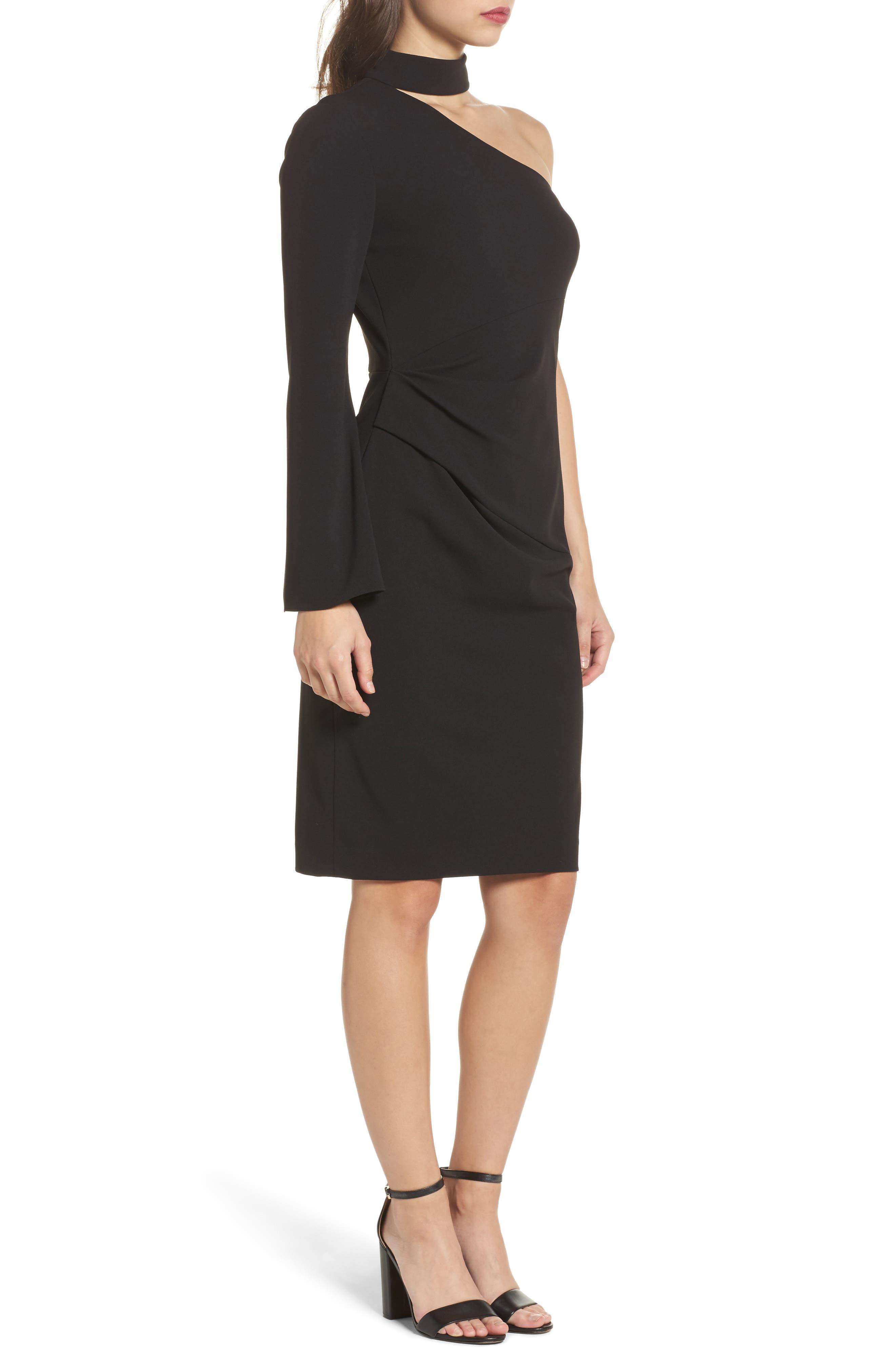 Alternate Image 3  - Vince Camuto Choker One-Shoulder Dress