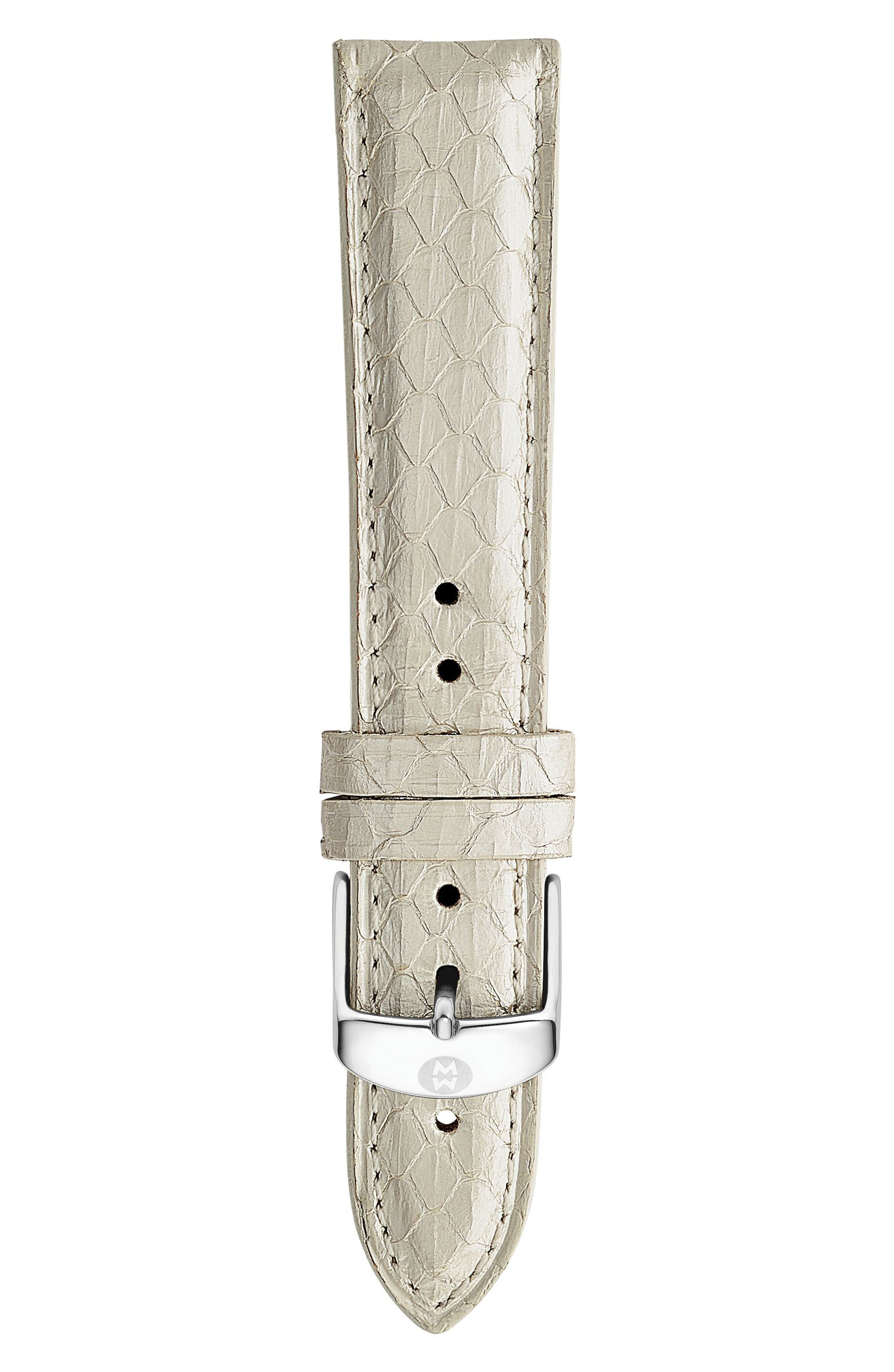 18mm Snakeskin Watch Strap,                         Main,                         color, White Multi
