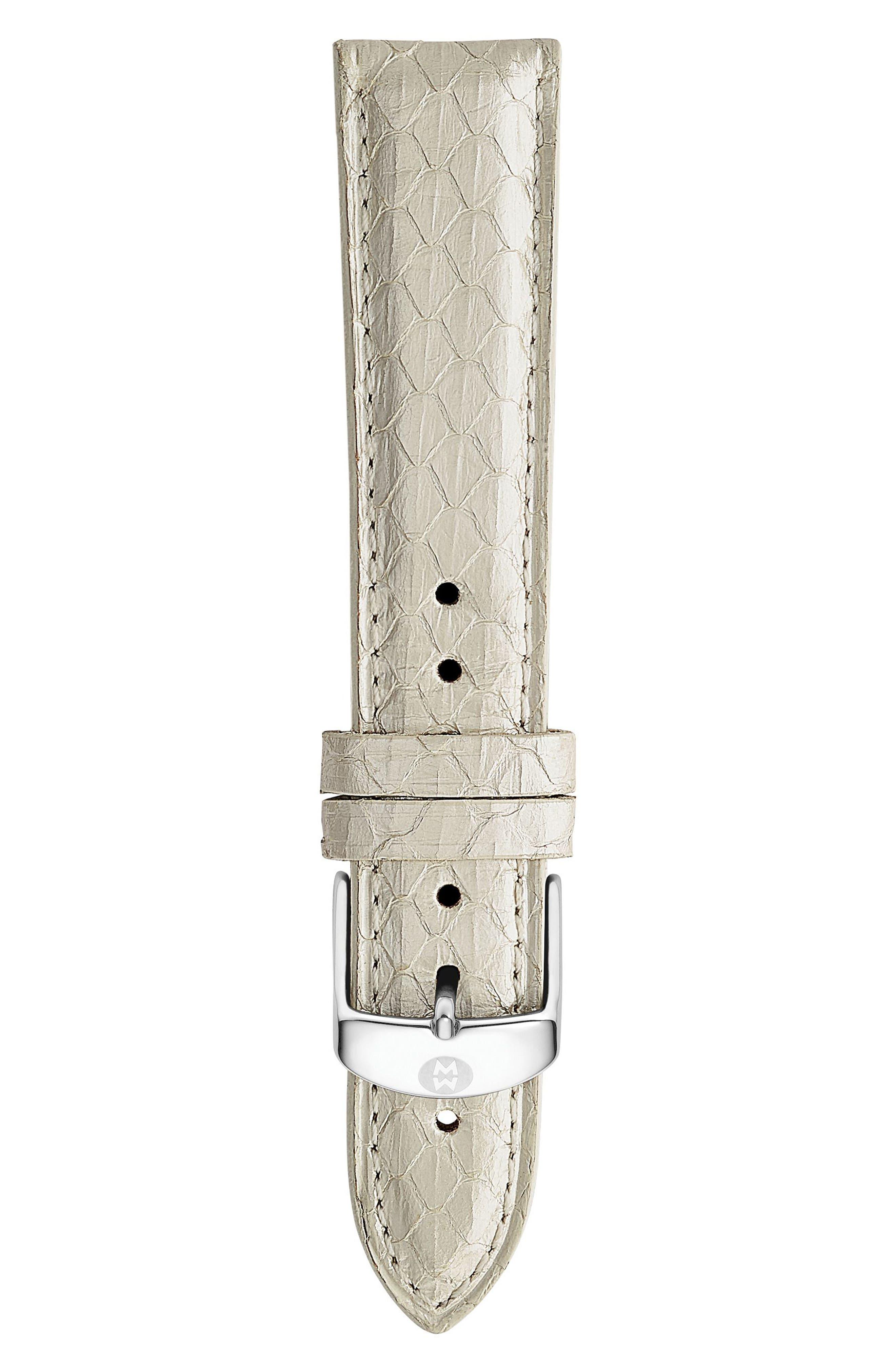 MICHELE 18mm Snakeskin Watch Strap