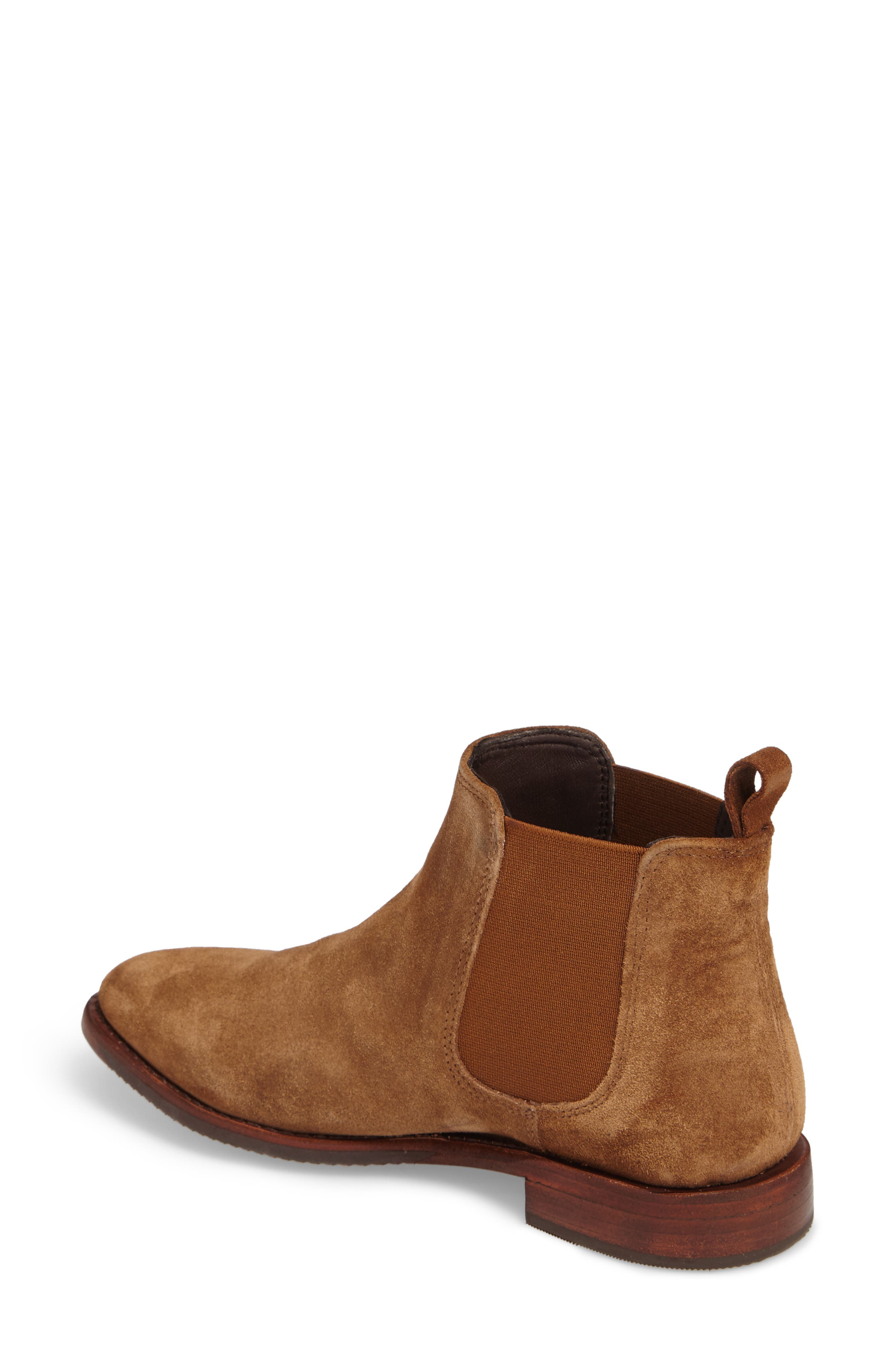 Gabrielle Chelsea Boot,                             Alternate thumbnail 2, color,                             Brown Suede