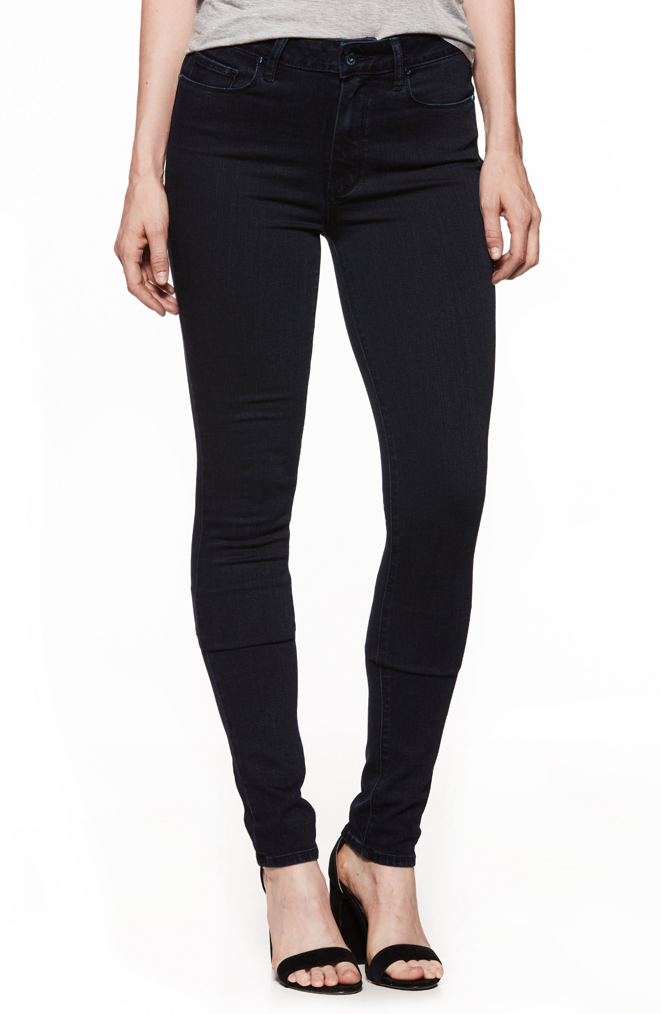 Main Image - PAIGE Transcend - Leggy High Waist Ultra Skinny Jeans (Alley)