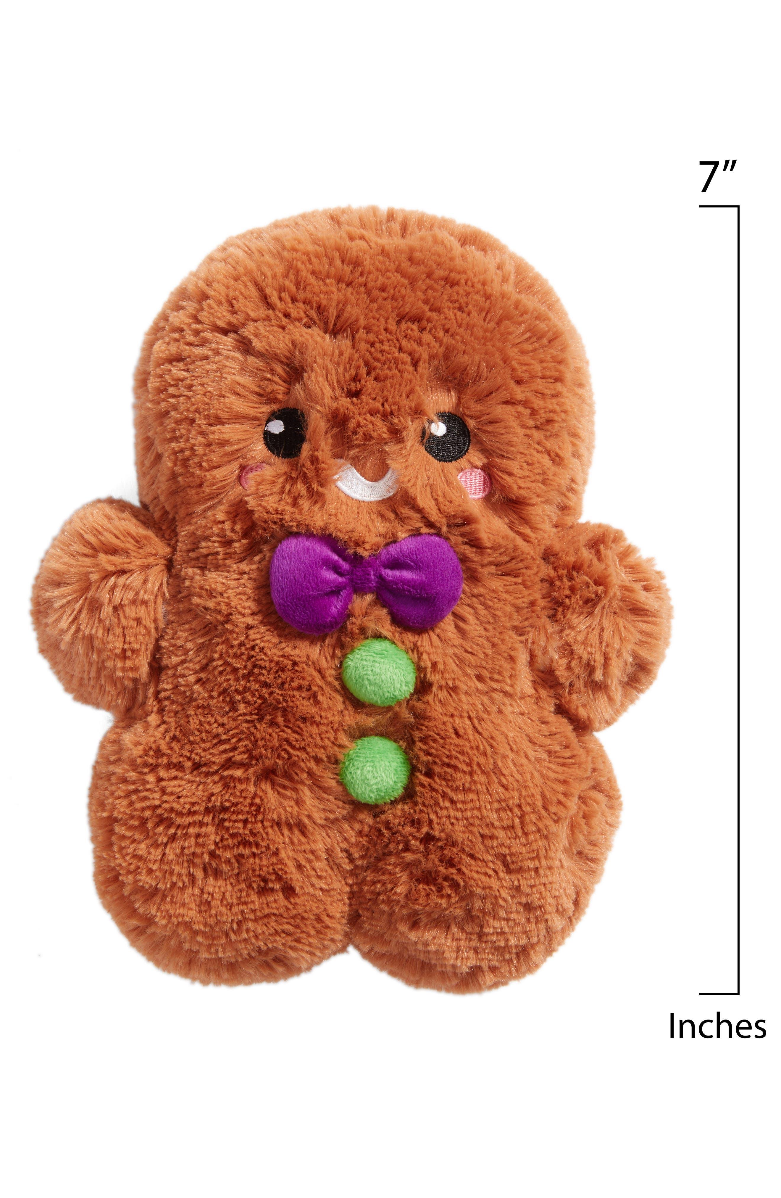 Mini Gingerbread Man Stuffed Toy,                             Alternate thumbnail 2, color,                             Brown