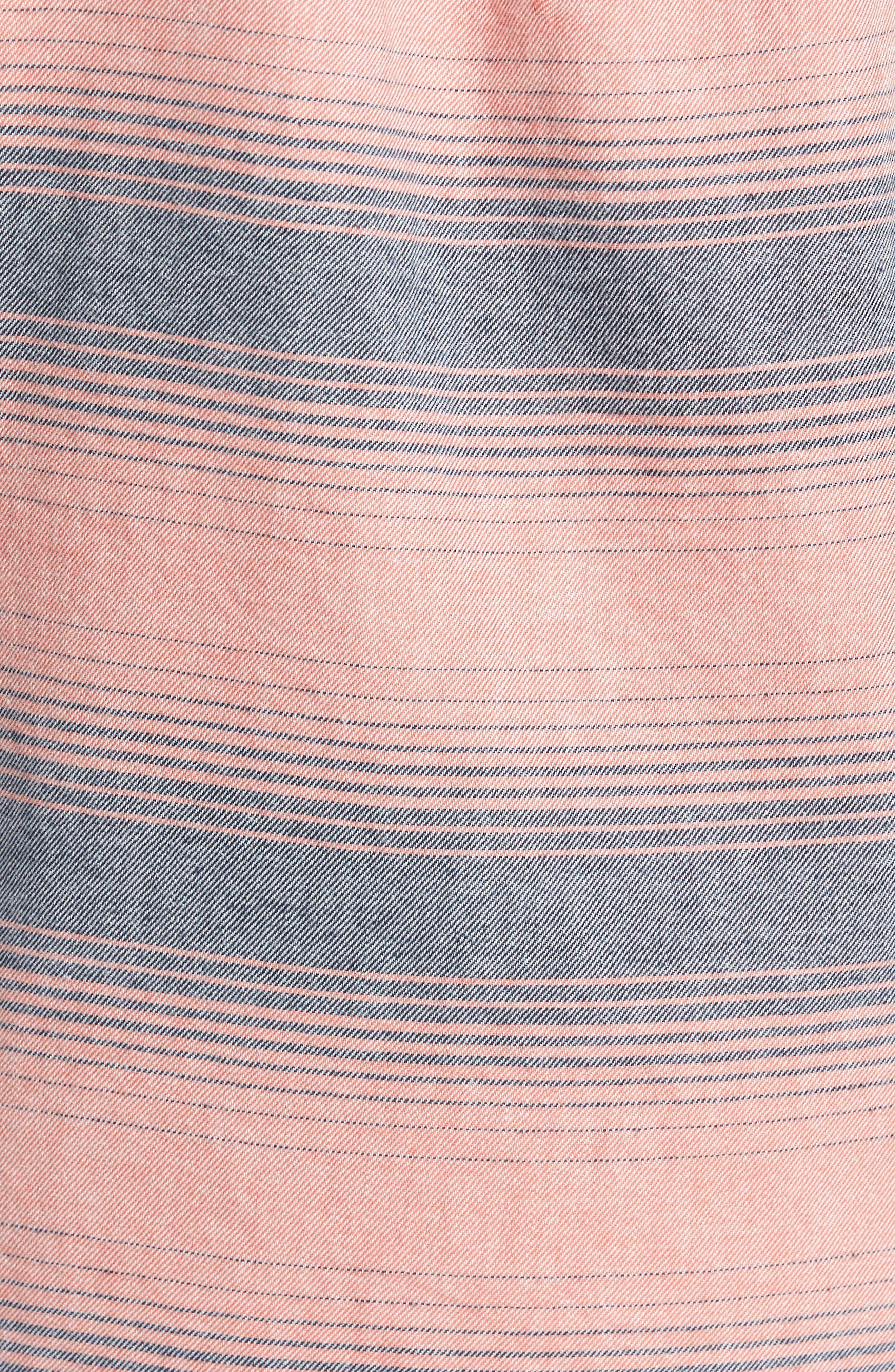 Alternate Image 5  - Surfside Supply Brushed Stripe Sport Shirt
