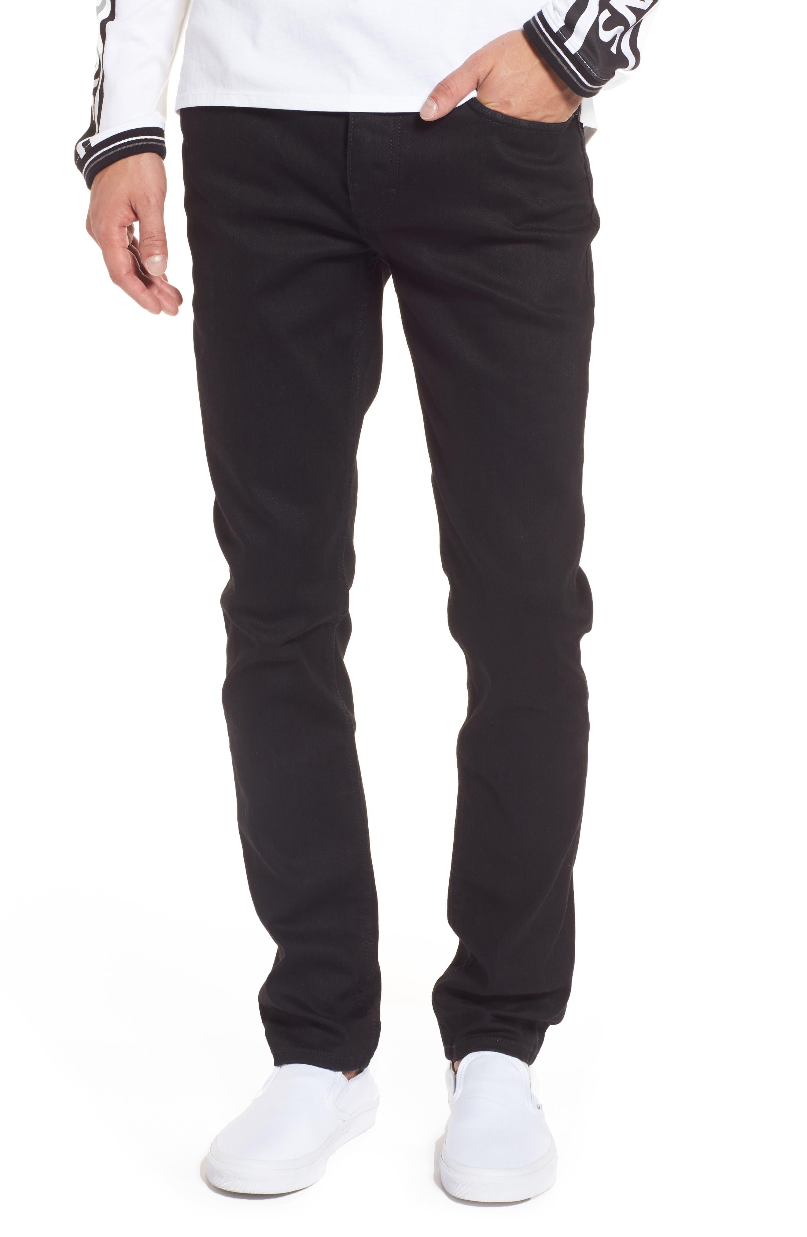 Skinny Jeans,                         Main,                         color, Black