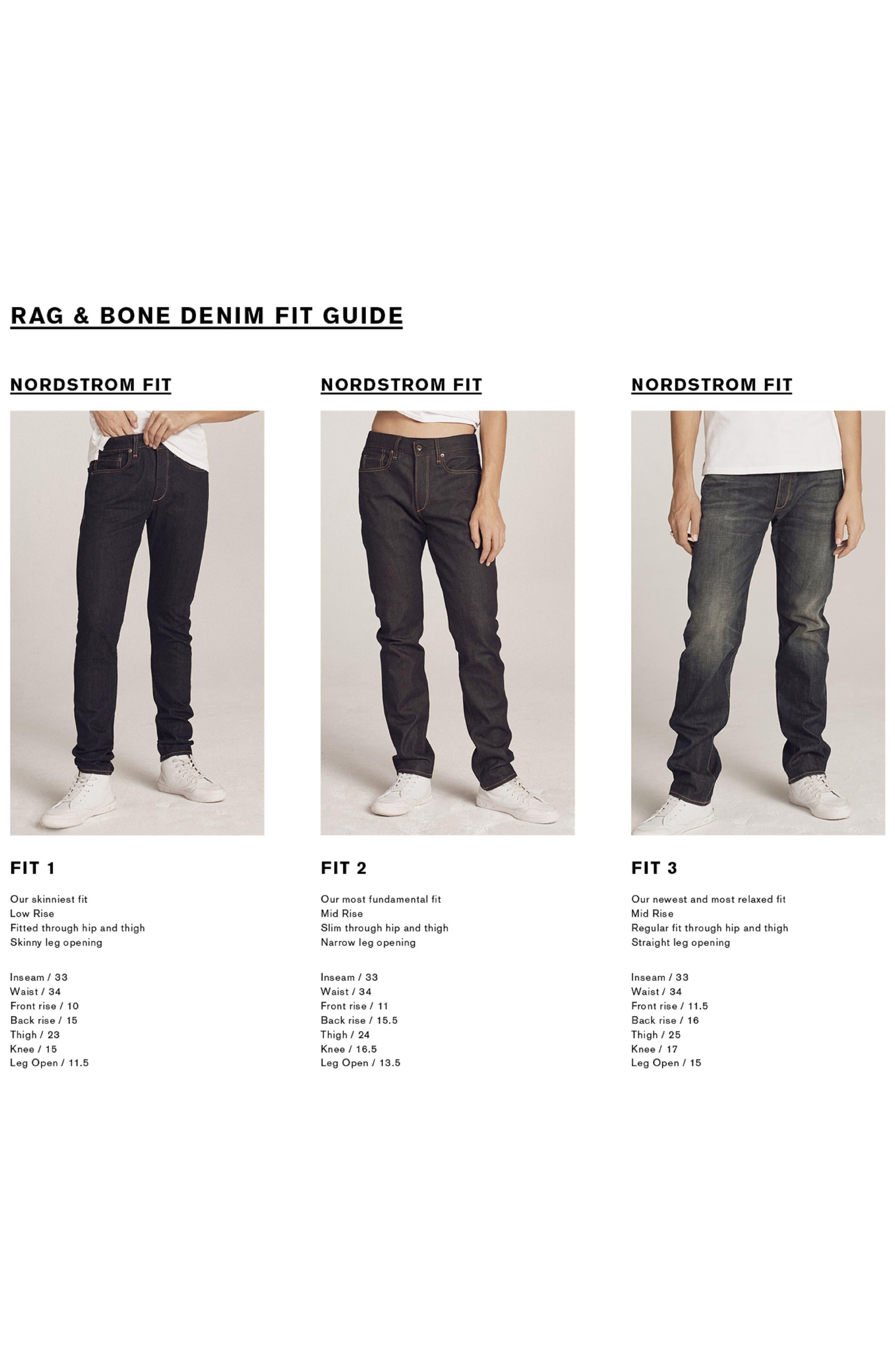 Alternate Image 7  - rag & bone Standard Issue Fit 2 Slim Fit Raw Selvedge Jeans (Indigo)