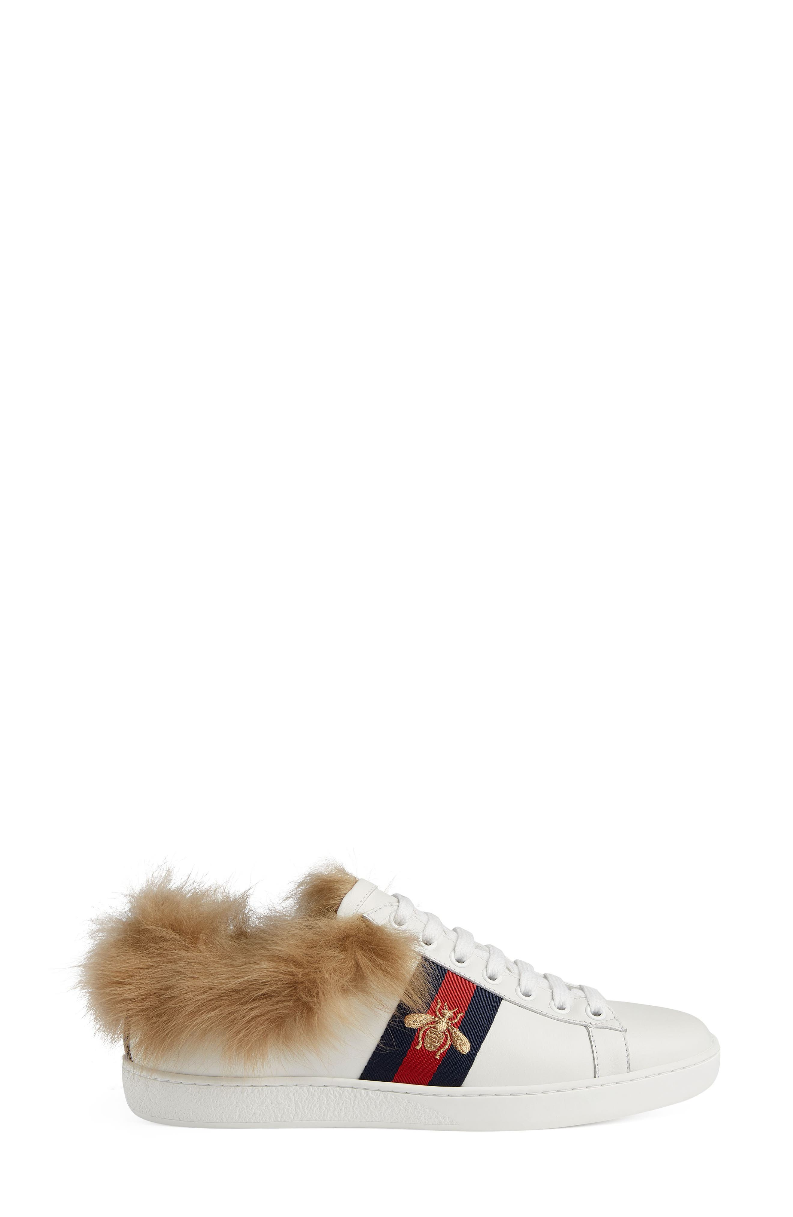 New Ace Genuine Shearling Lining Sneaker,                             Alternate thumbnail 2, color,                             White