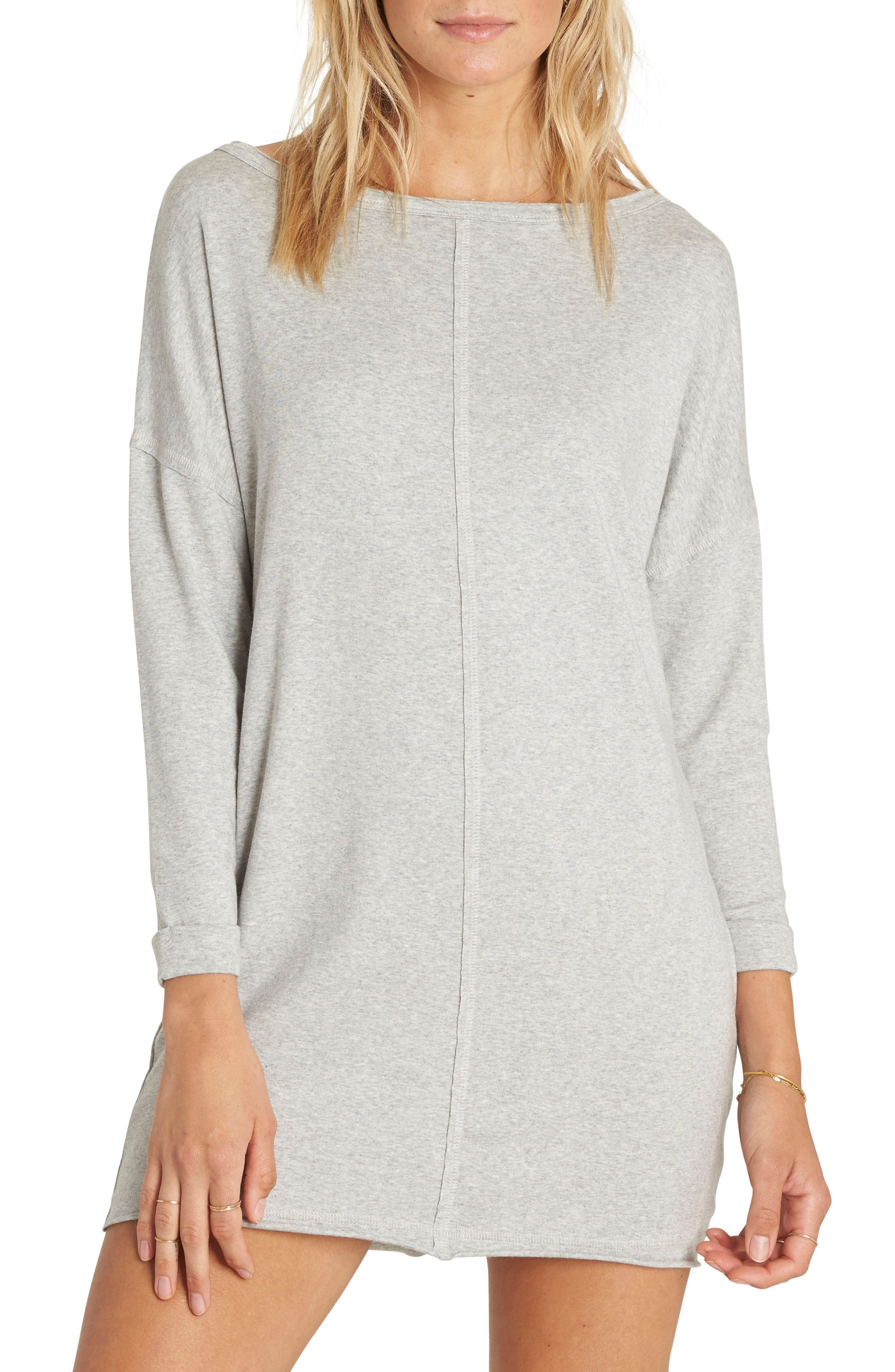 Only One T-Shirt Dress,                         Main,                         color, Athletic Grey