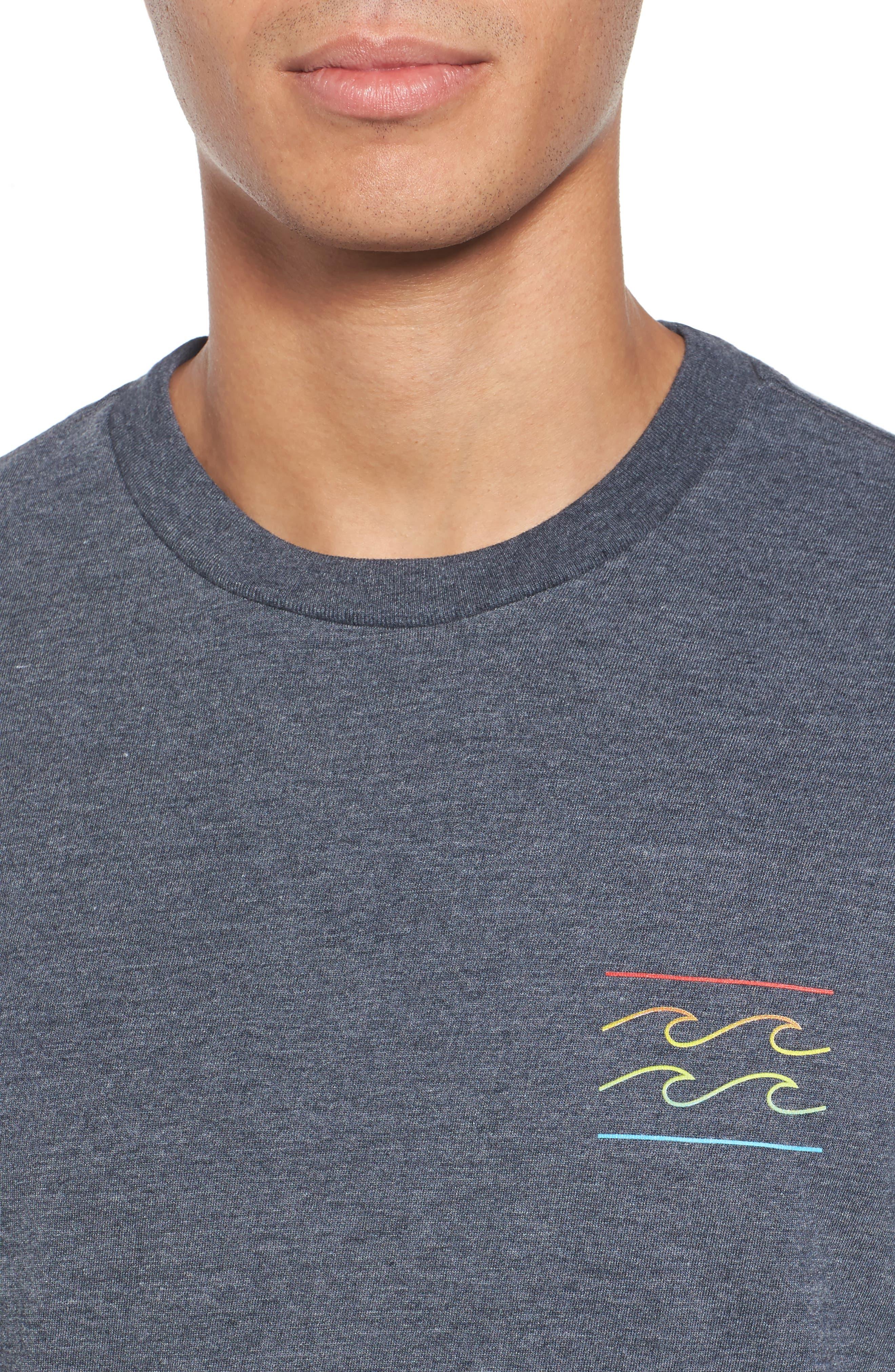 Flat Line T-Shirt,                             Alternate thumbnail 4, color,                             Indigo Heather