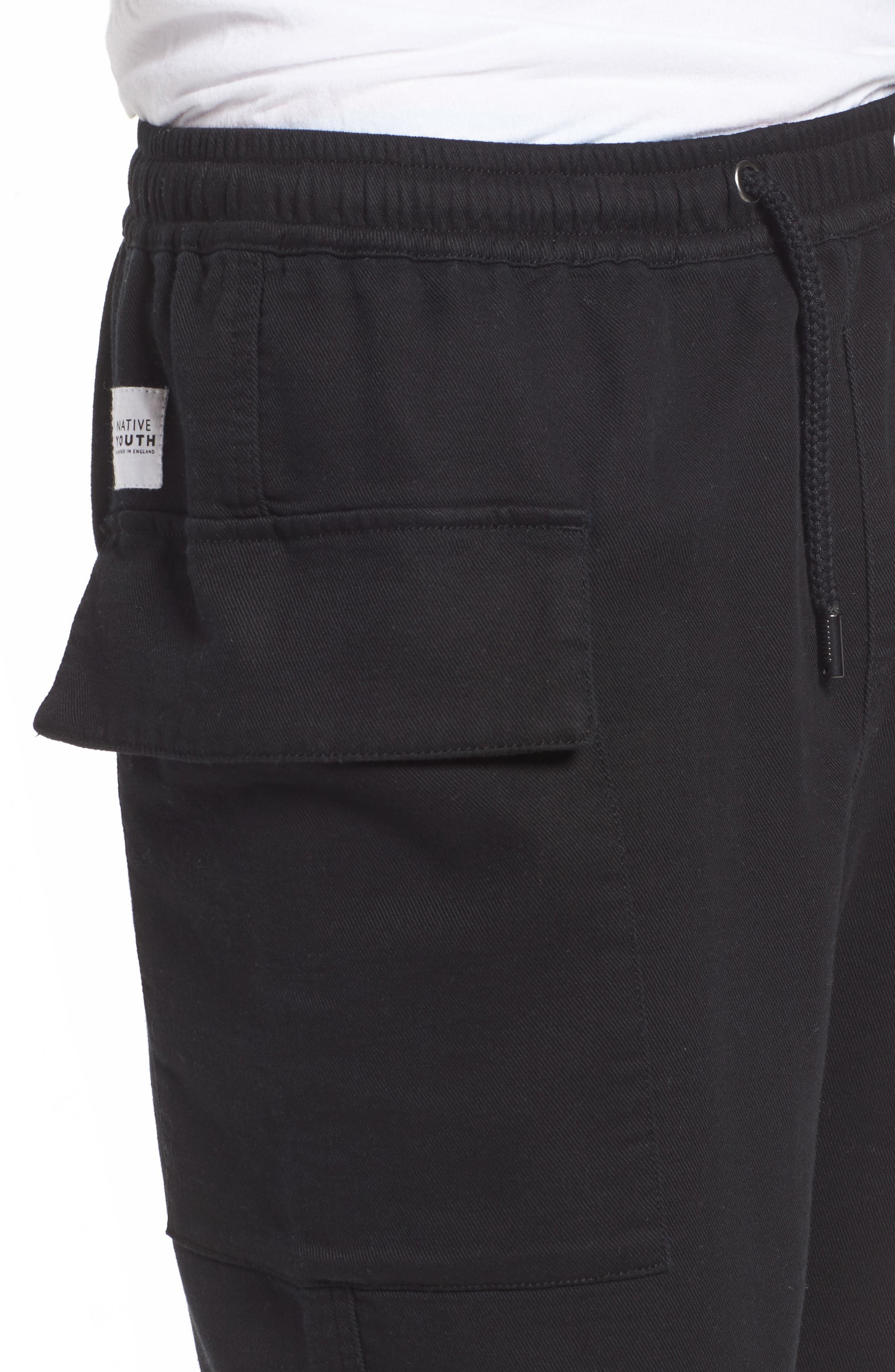 Shay Cargo Pants,                             Alternate thumbnail 4, color,                             Black