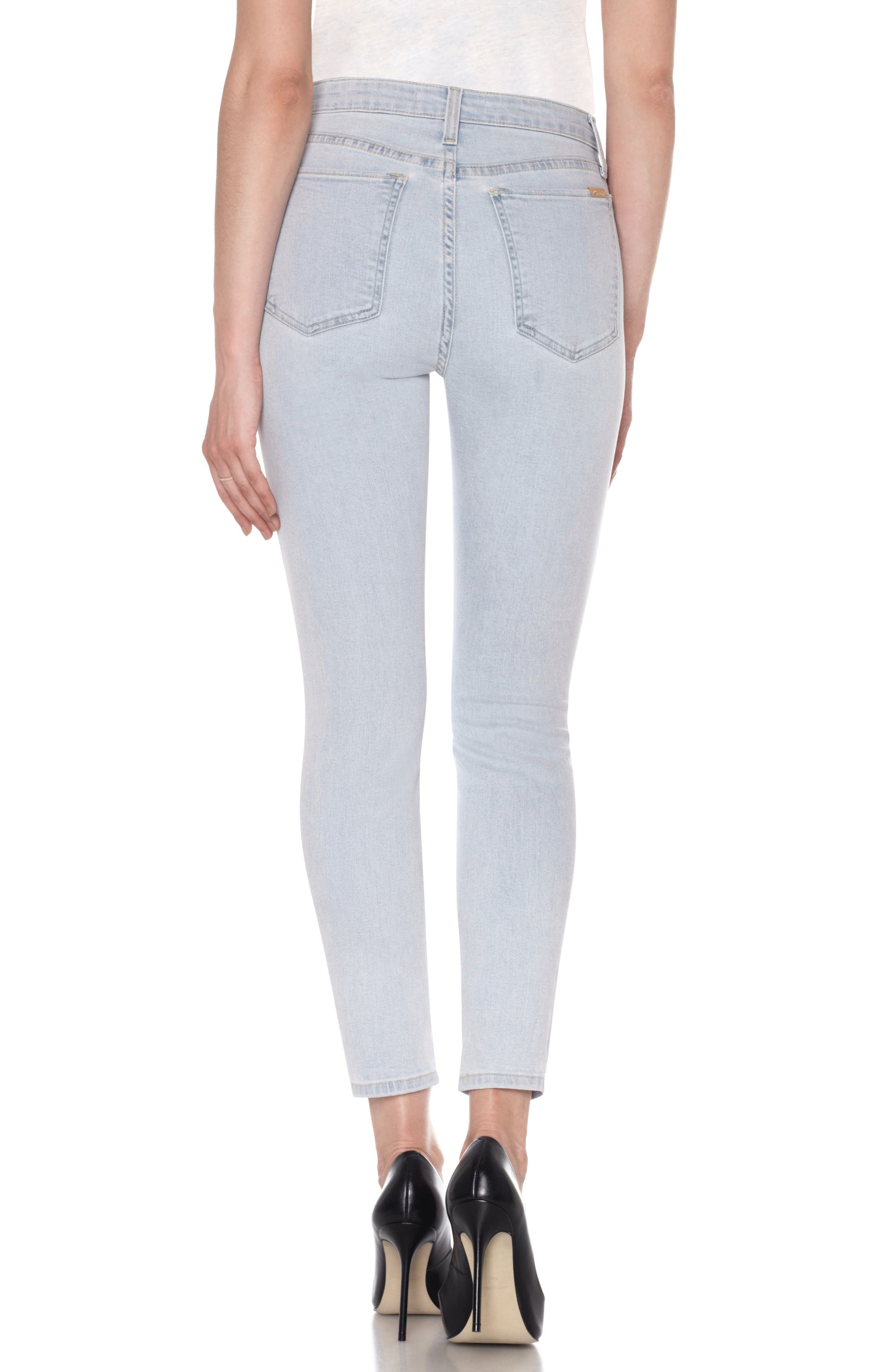 Flawless - Bella High Waist Ankle Skinny Jeans,                             Alternate thumbnail 2, color,                             Amada