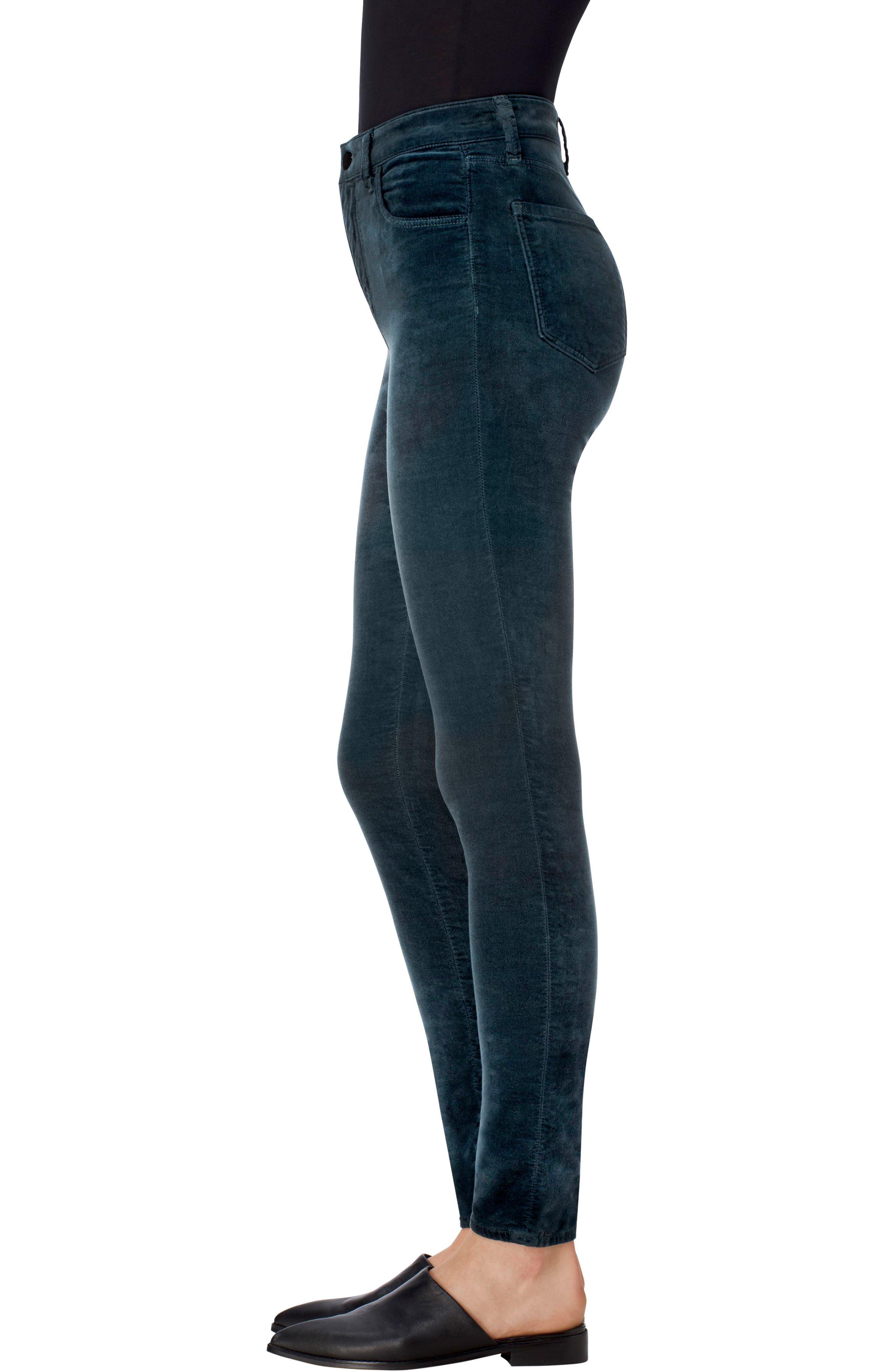 Alternate Image 3  - J Brand Maria High Waist Velvet Skinny Jeans