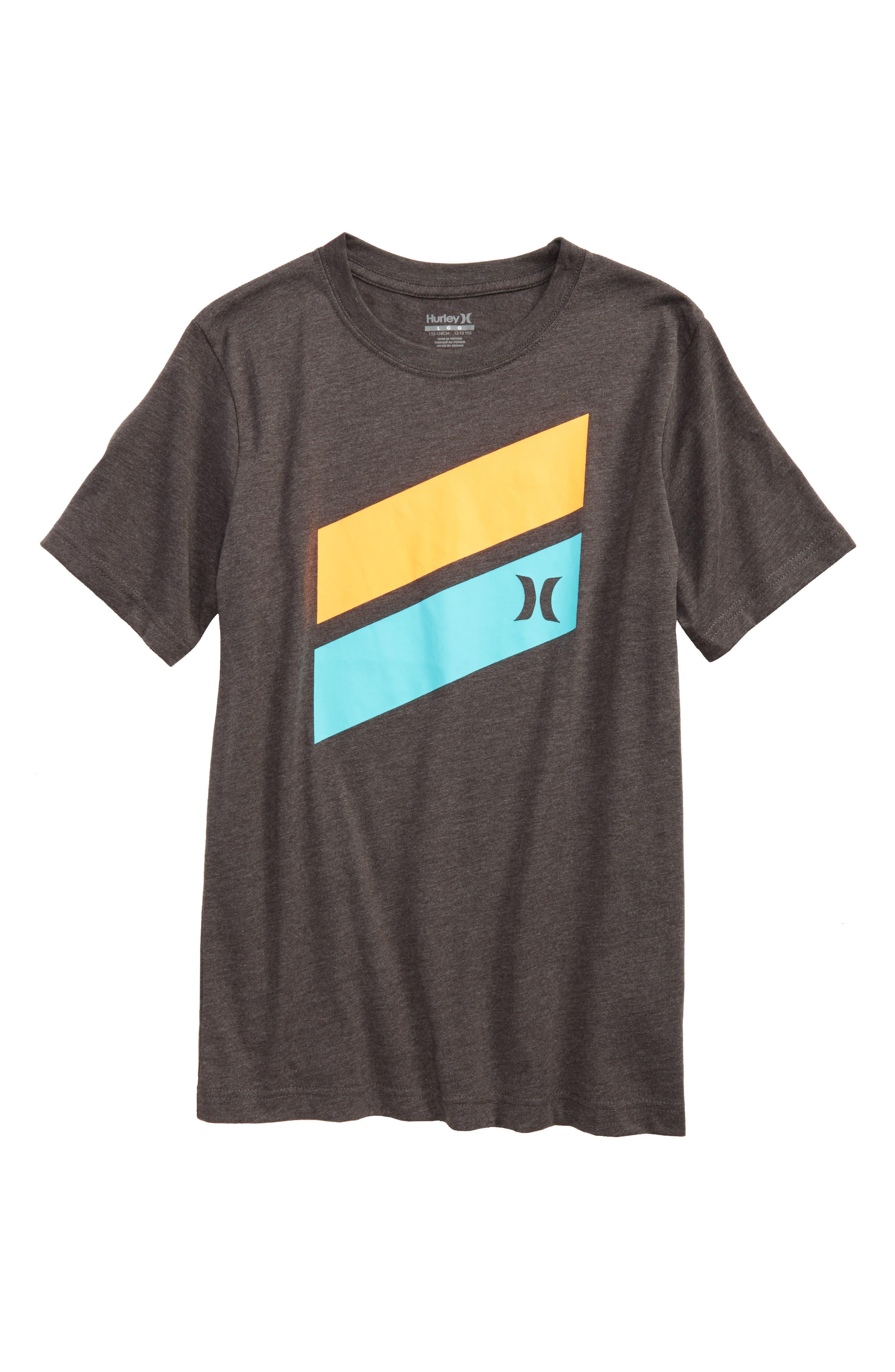 'Icon Slash' Graphic T-Shirt,                         Main,                         color, Charcoal Heather