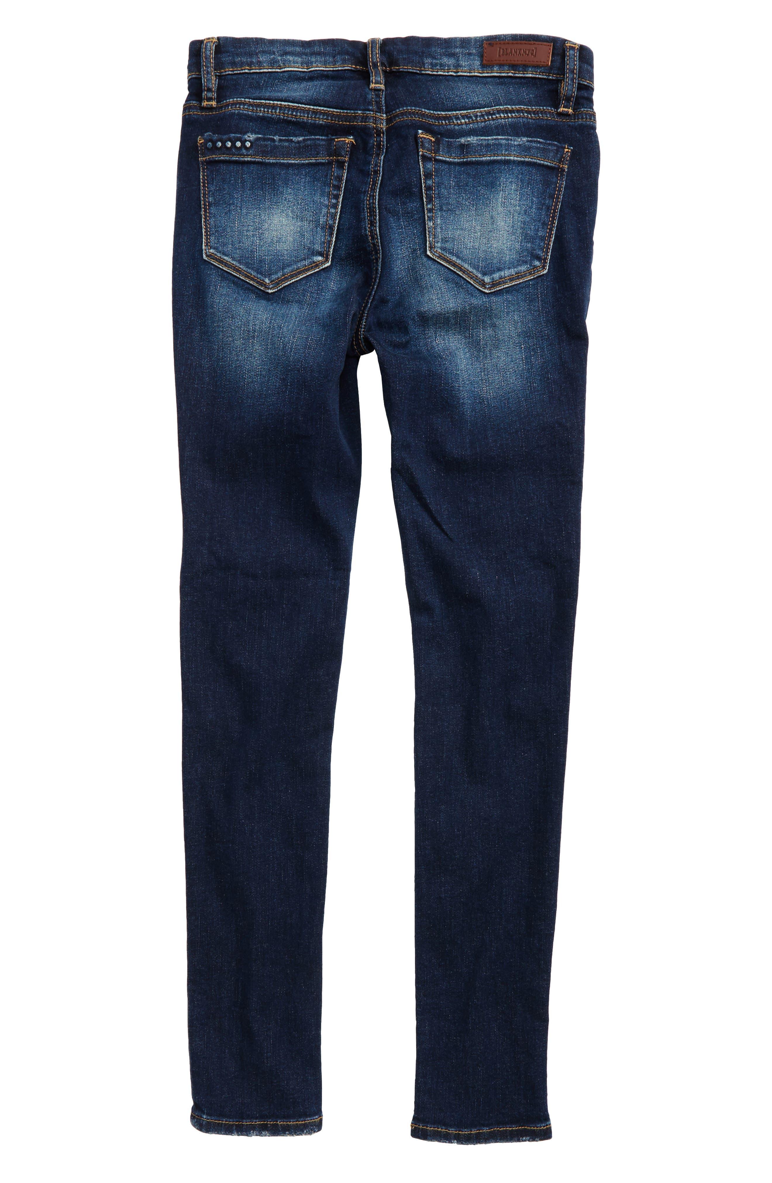 Alternate Image 2  - BLANKNYC Rip & Repair Skinny Jeans (Big Girls)