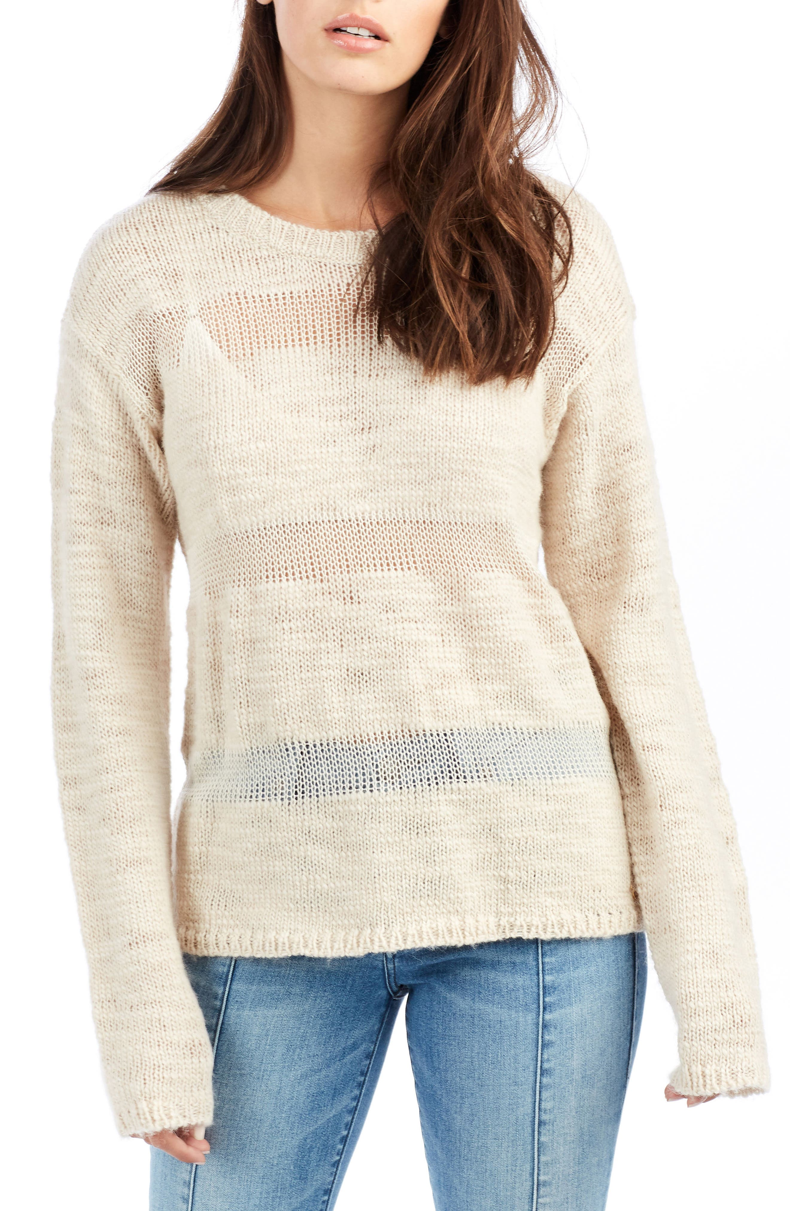 Stripe Sweater,                             Main thumbnail 1, color,                             Scuffed Beige