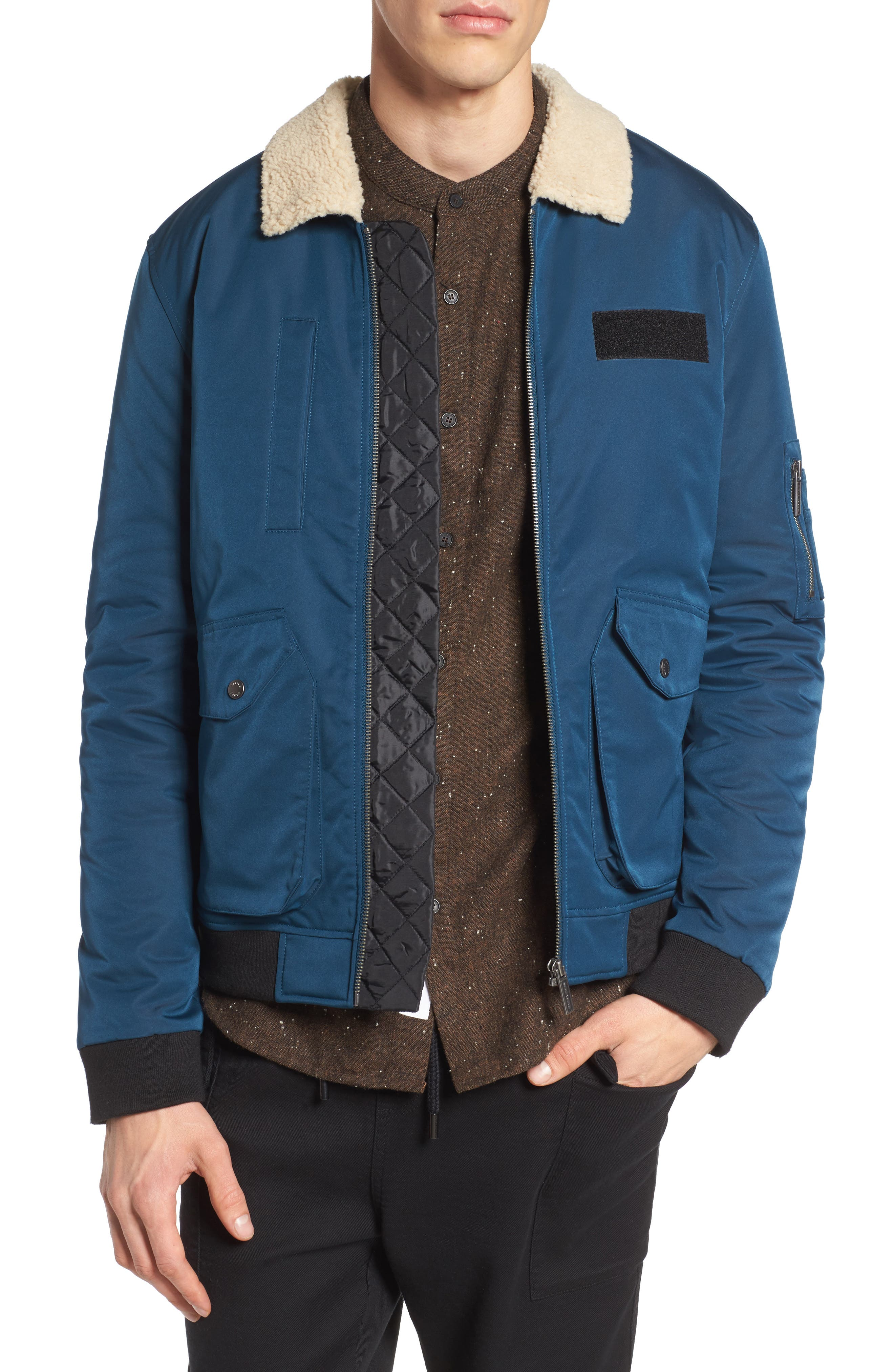 Stamford Jacket,                         Main,                         color, Petrol Blue