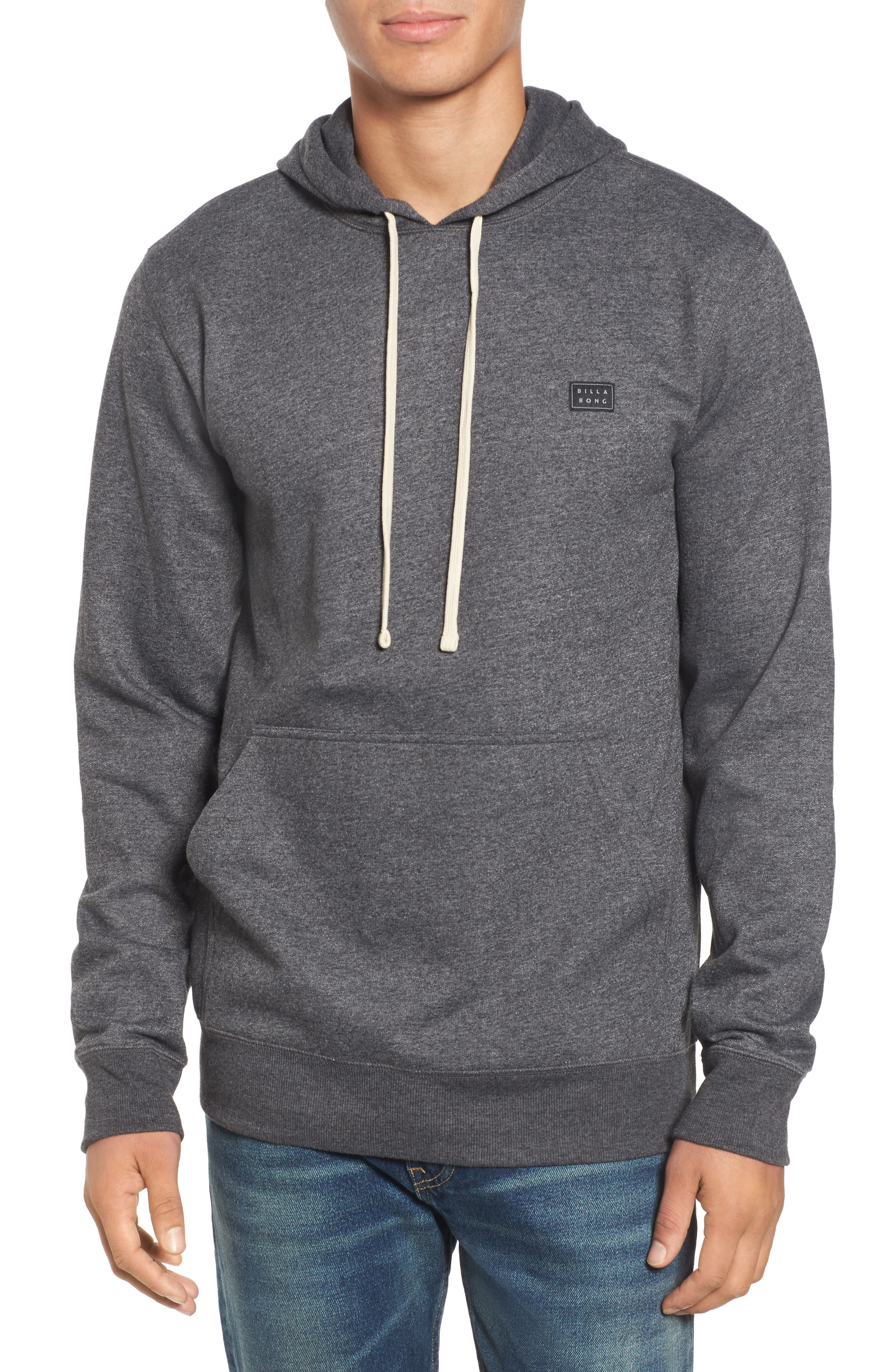 All Day Pullover Hoodie,                         Main,                         color, Dark Grey Heather